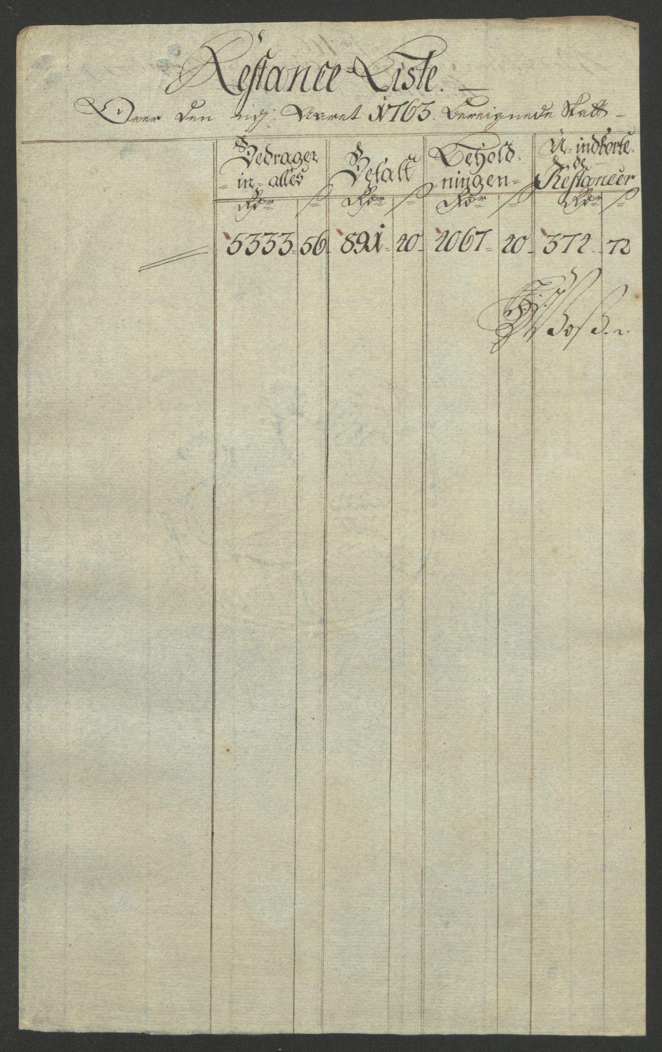 RA, Rentekammeret inntil 1814, Reviderte regnskaper, Bergverksregnskaper, R/Rc/Rca/L0843: Ekstraskatt, 1762-1765, s. 602