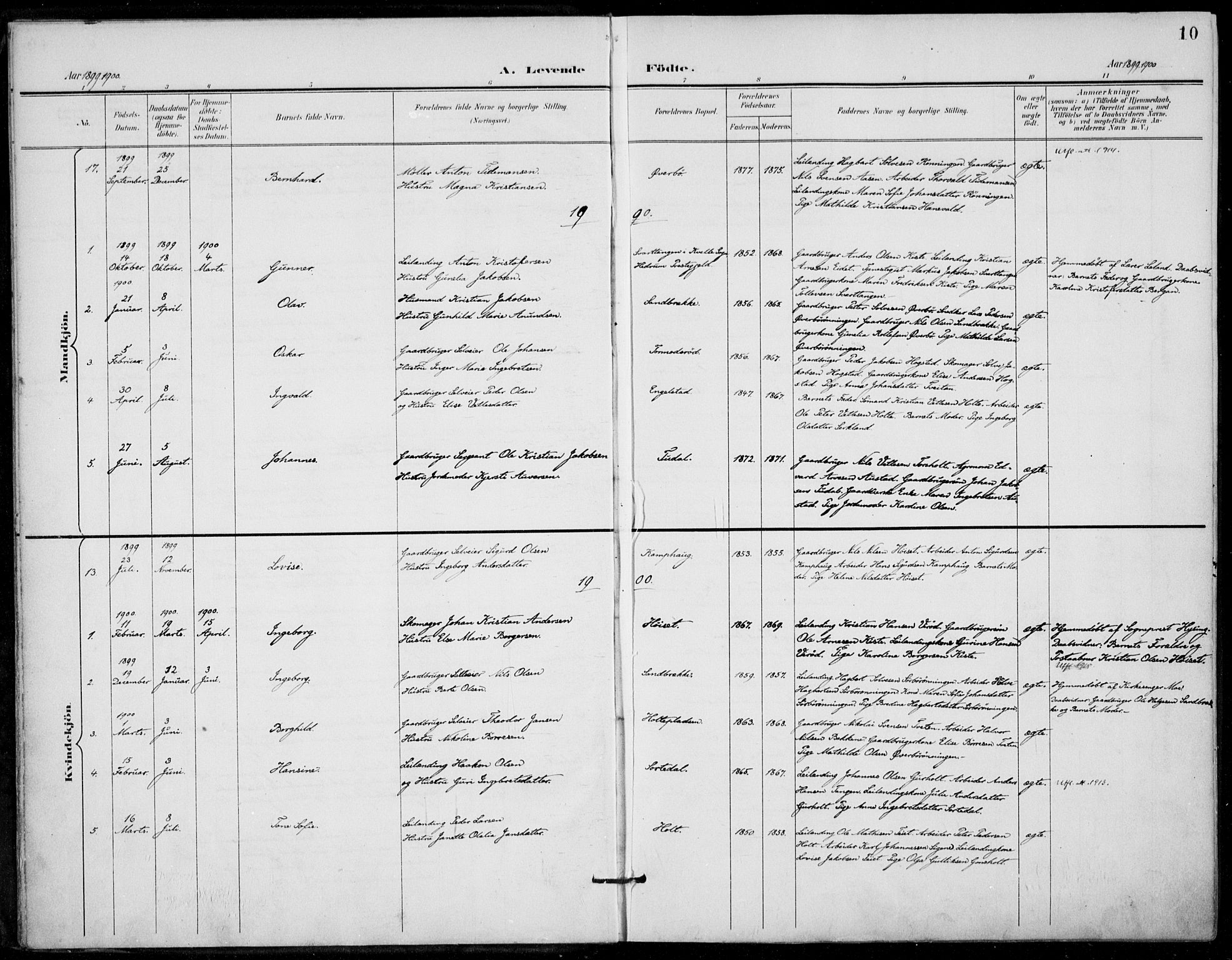 SAKO, Siljan kirkebøker, F/Fa/L0003: Ministerialbok nr. 3, 1896-1910, s. 10