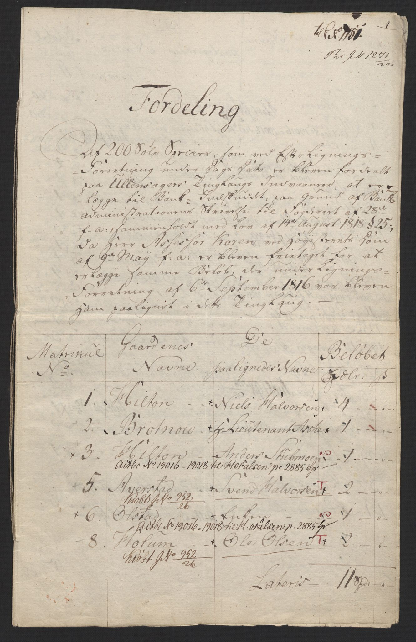 NOBA, Norges Bank/Sølvskatten 1816*, 1816-1821, s. 35