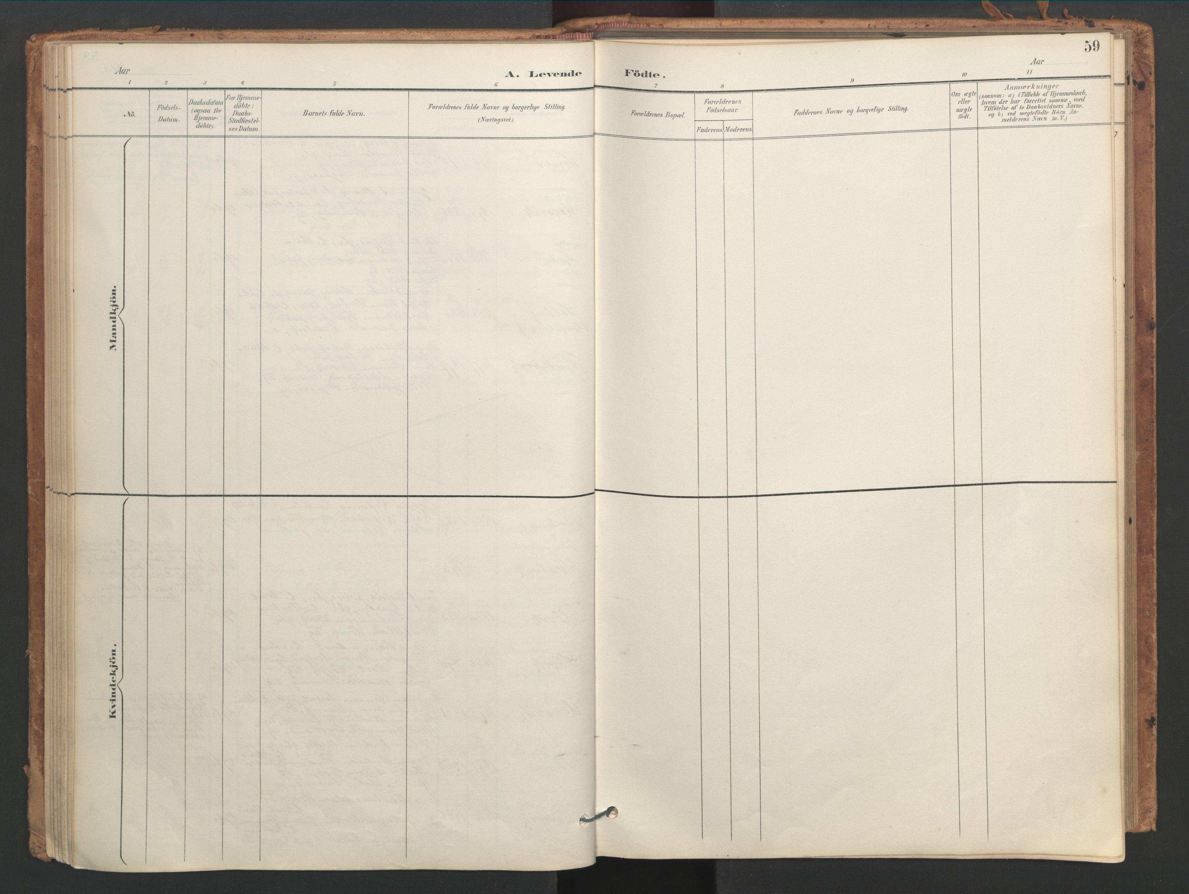SAT, Ministerialprotokoller, klokkerbøker og fødselsregistre - Sør-Trøndelag, 656/L0693: Ministerialbok nr. 656A02, 1894-1913, s. 59