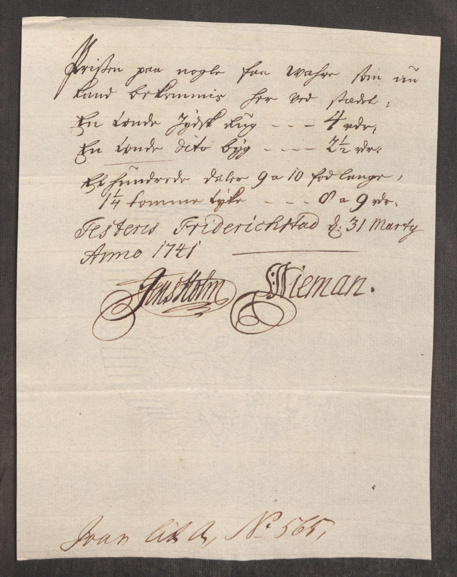RA, Rentekammeret inntil 1814, Realistisk ordnet avdeling, Oe/L0002: [Ø1]: Priskuranter, 1740-1744, s. 203