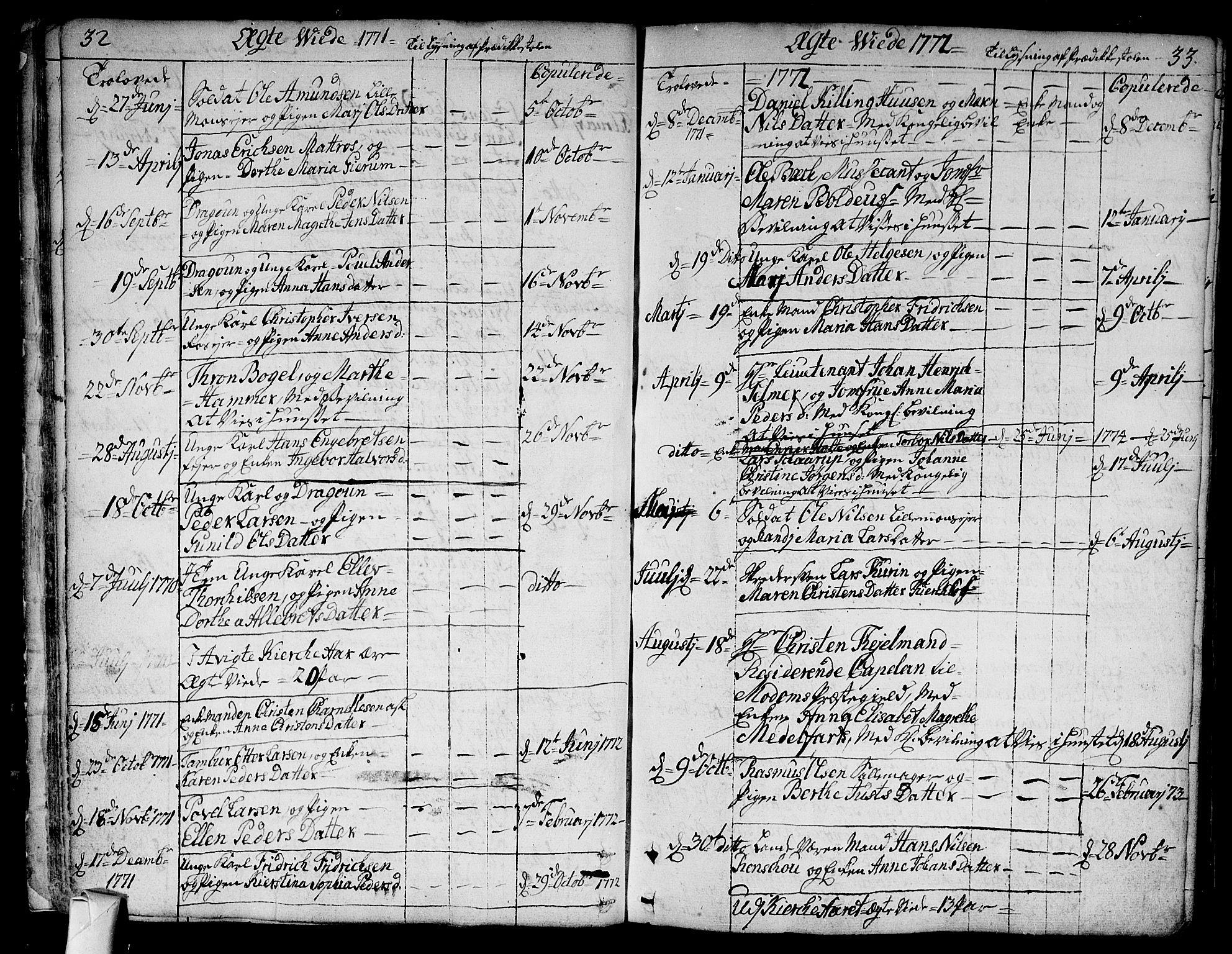 SAKO, Bragernes kirkebøker, F/Fa/L0005: Ministerialbok nr. I 5, 1759-1781, s. 32-33