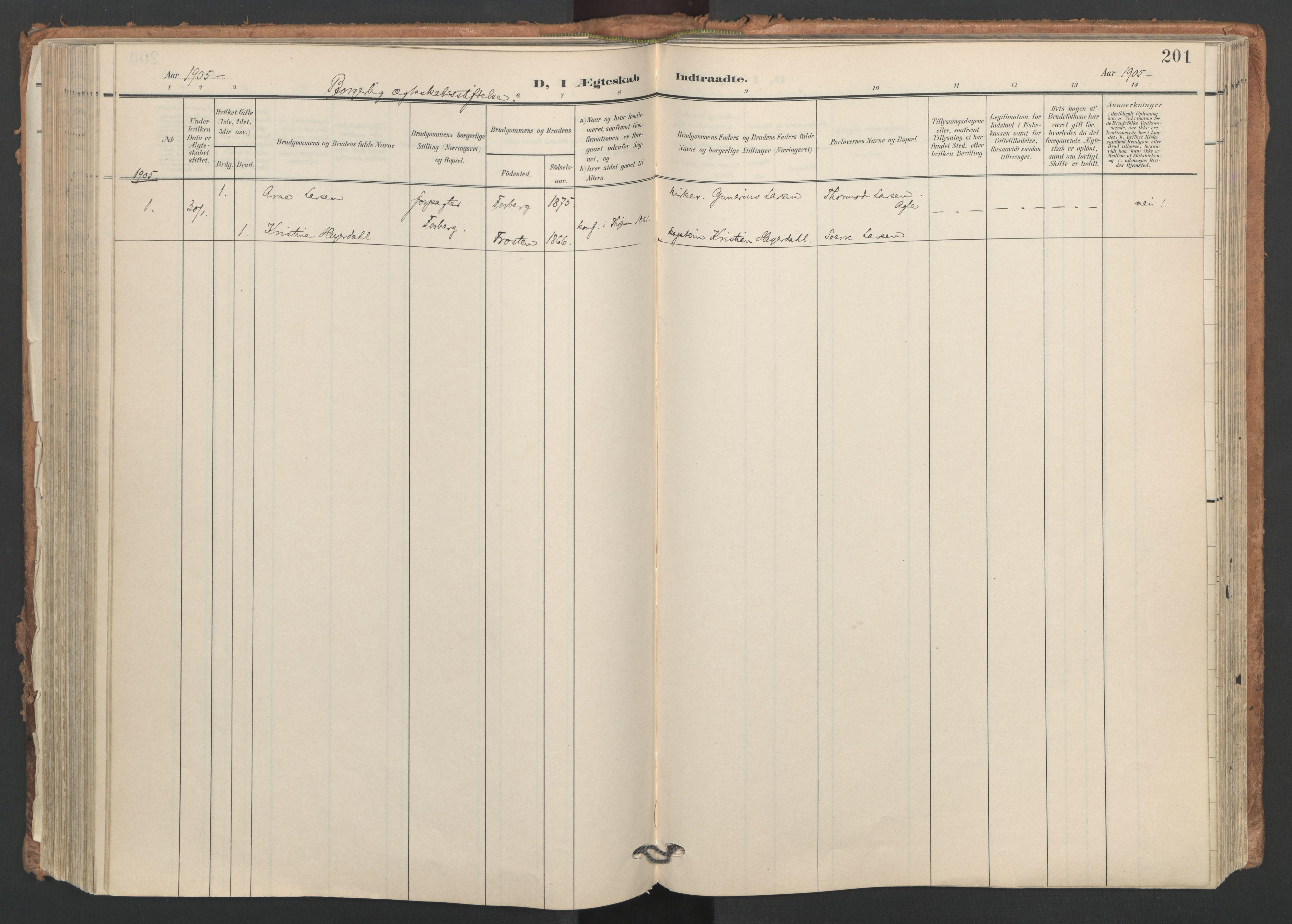 SAT, Ministerialprotokoller, klokkerbøker og fødselsregistre - Nord-Trøndelag, 749/L0477: Ministerialbok nr. 749A11, 1902-1927, s. 201