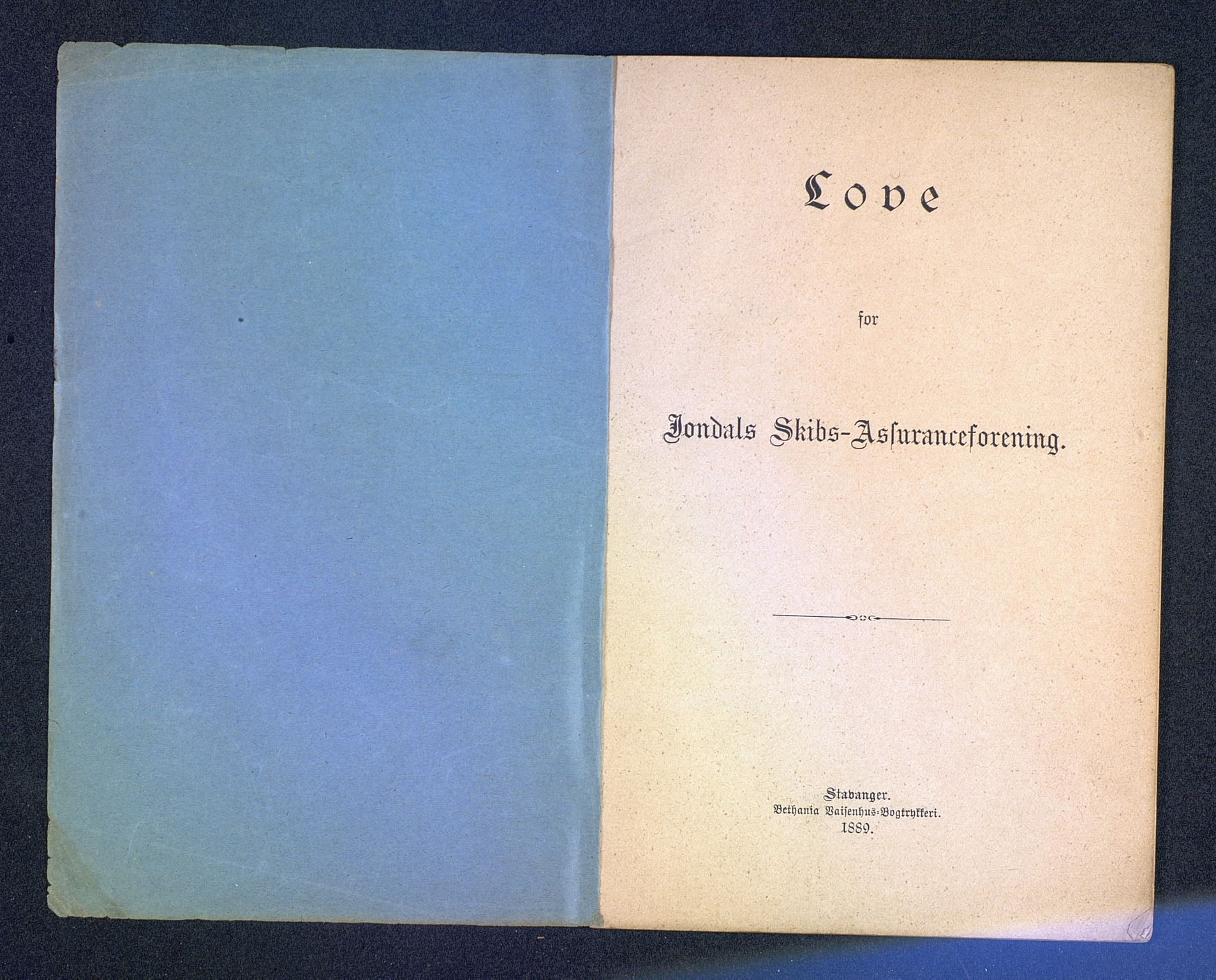 SAB, Jondal Skipsassuranseforening, E/L0001: 75 års jubileet, 1944