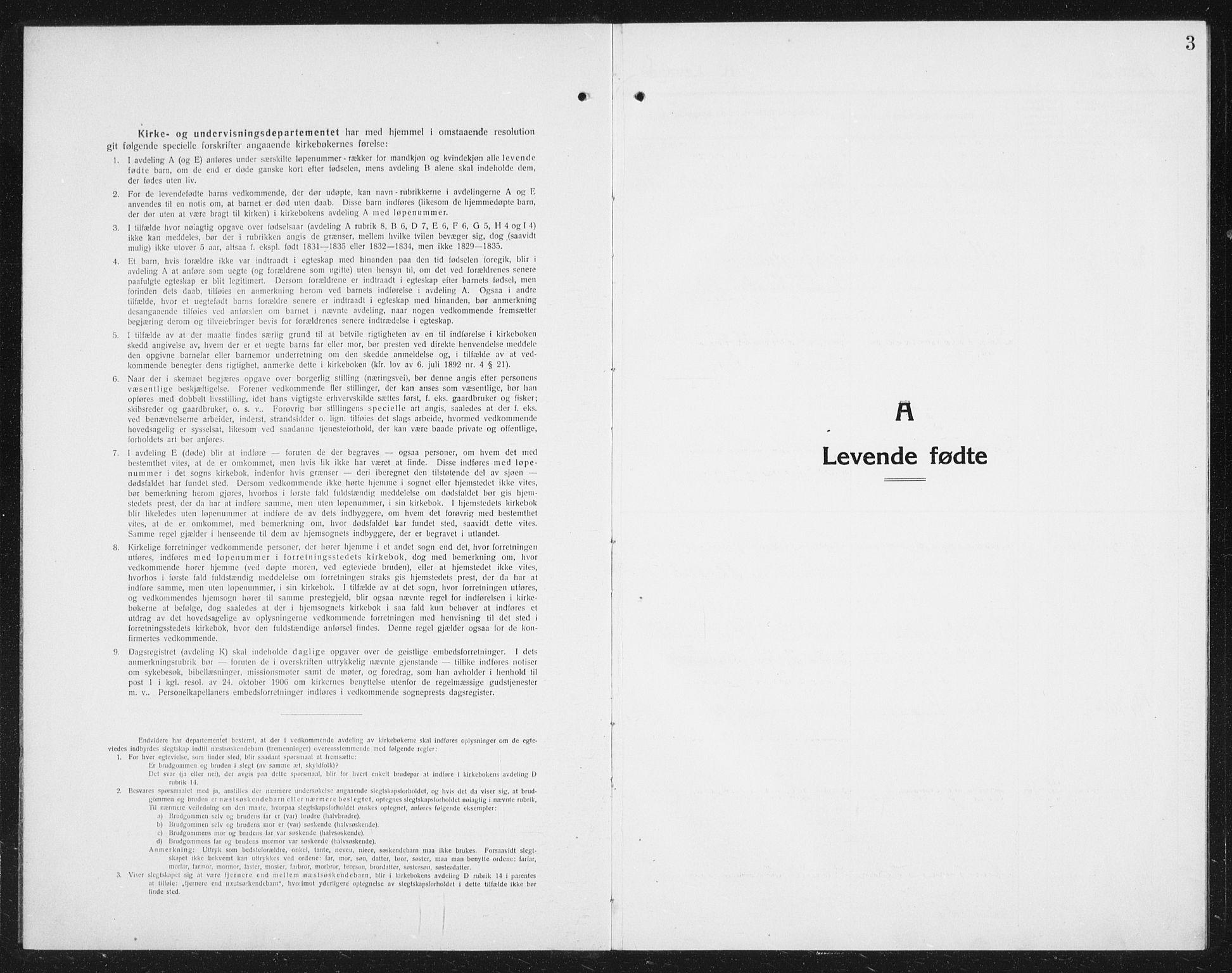 SAT, Ministerialprotokoller, klokkerbøker og fødselsregistre - Nordland, 887/L1229: Klokkerbok nr. 887C01, 1916-1935, s. 3