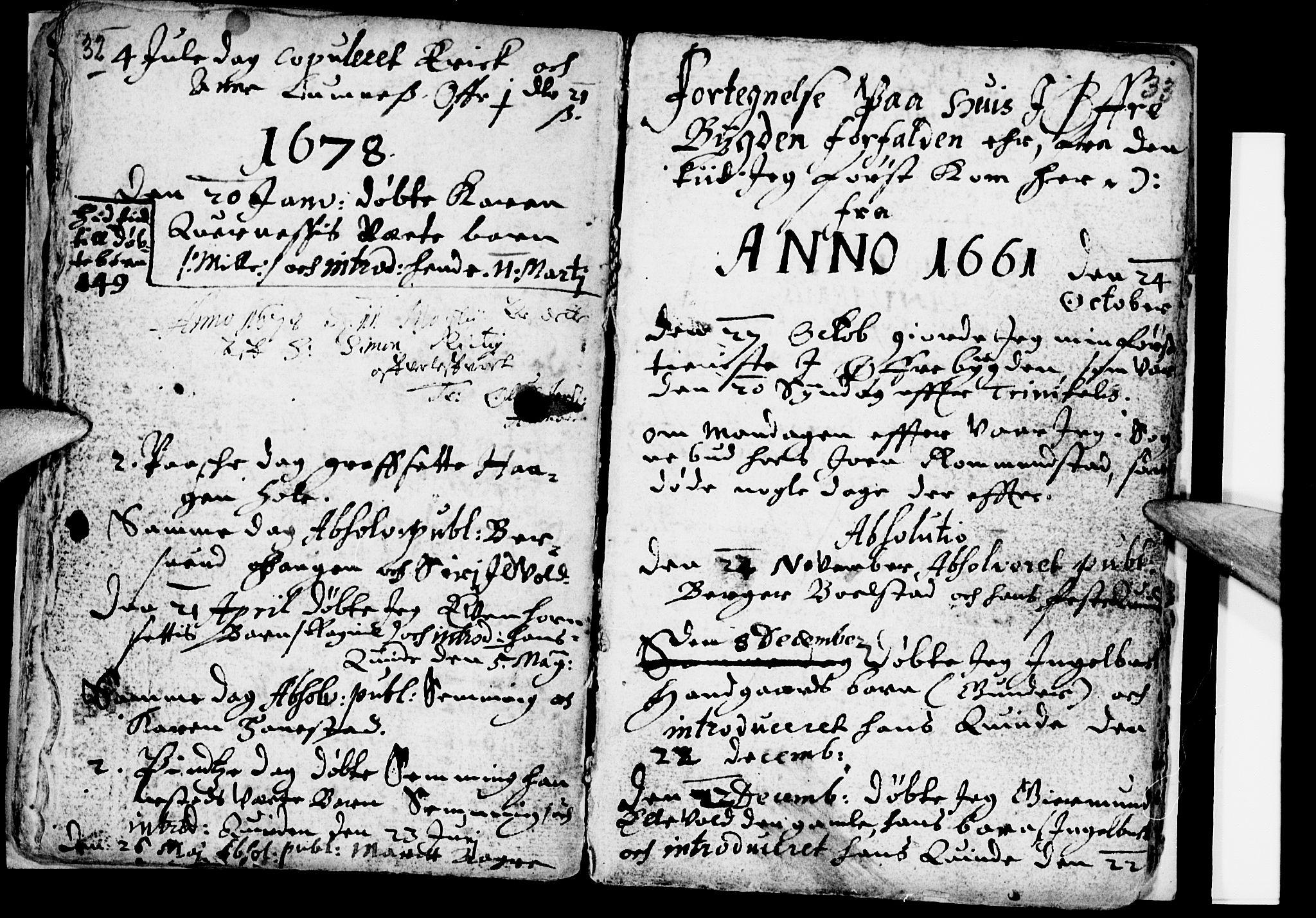 SAH, Åmot prestekontor, Hedmark, Ministerialbok nr. 1 /2, 1661-1680, s. 32-33