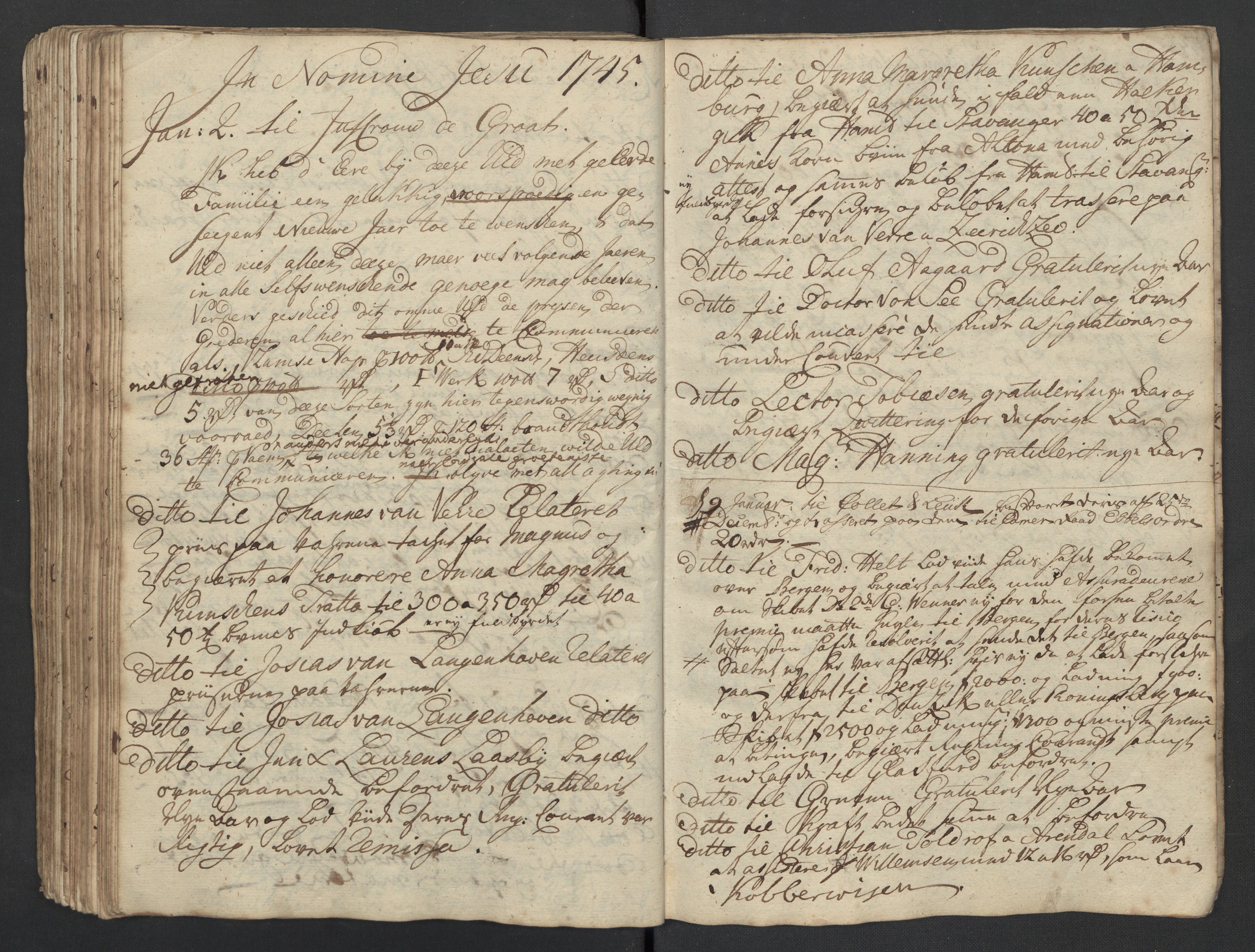 SAST, Pa 0119 - Smith, Lauritz Andersen og Lauritz Lauritzen, O/L0001: Kopibøker m.m., 1740-1745, s. 132