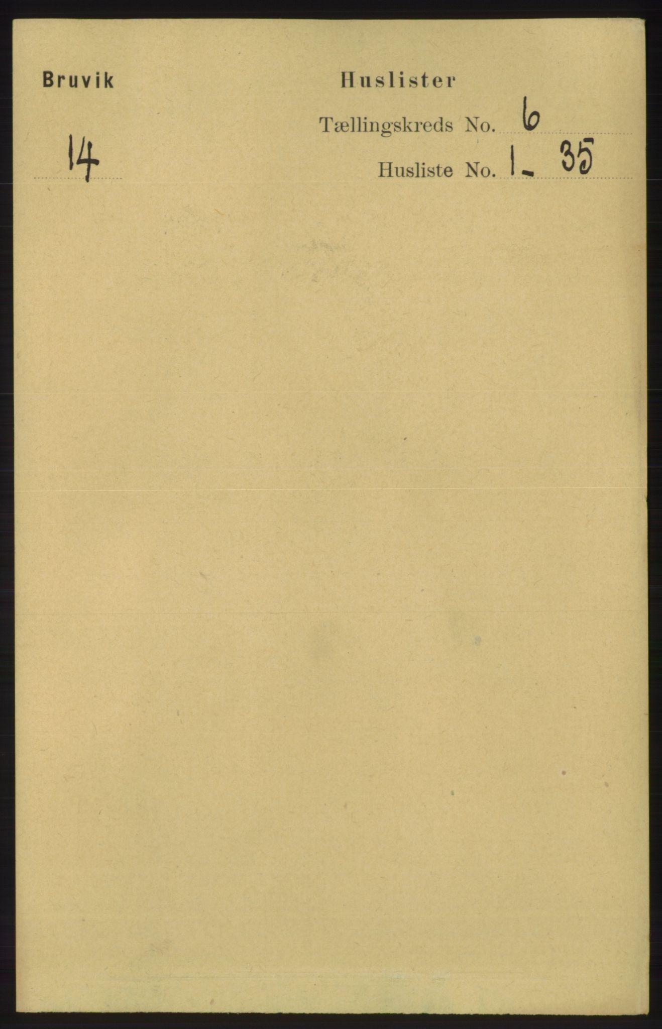 RA, Folketelling 1891 for 1251 Bruvik herred, 1891, s. 1727
