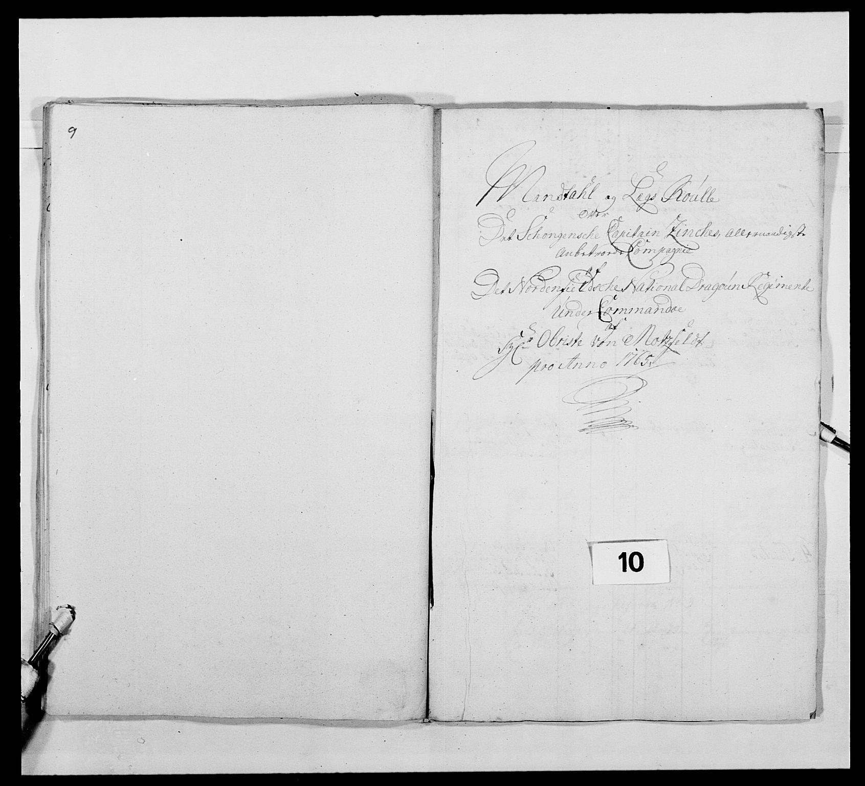 RA, Kommanderende general (KG I) med Det norske krigsdirektorium, E/Ea/L0483: Nordafjelske dragonregiment, 1765-1767, s. 221