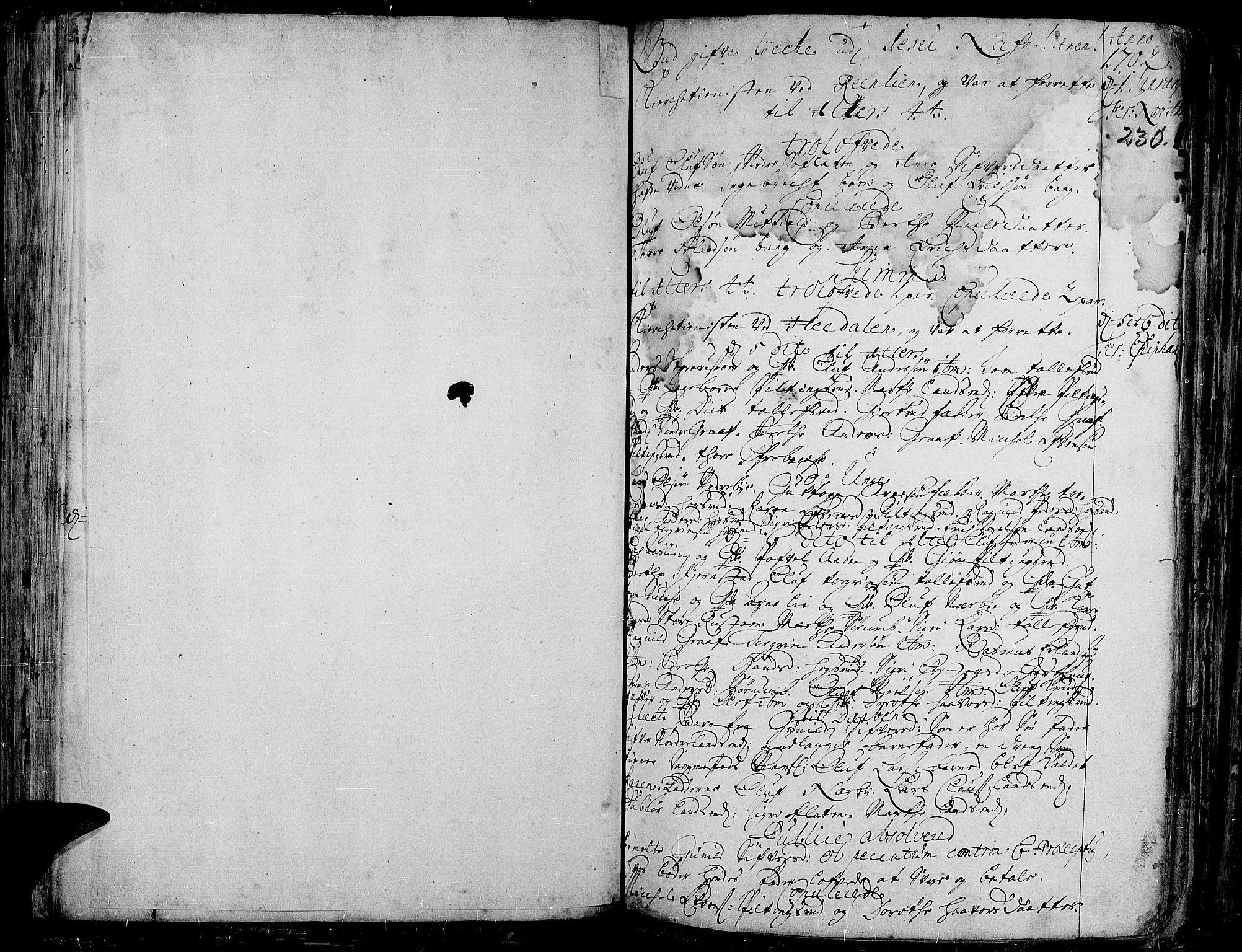 SAH, Aurdal prestekontor, Ministerialbok nr. 1-3, 1692-1730, s. 230