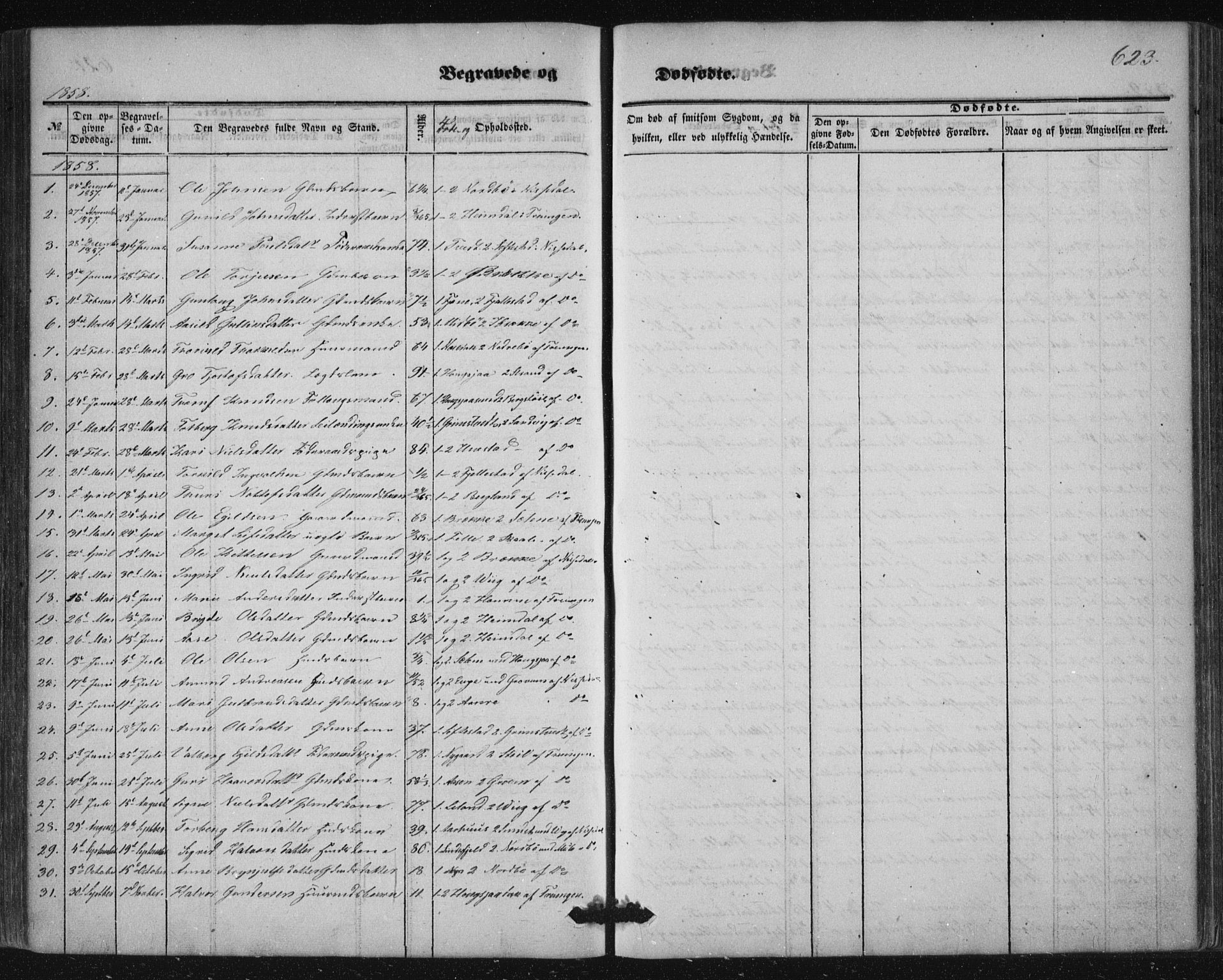 SAKO, Nissedal kirkebøker, F/Fa/L0003: Ministerialbok nr. I 3, 1846-1870, s. 622-623