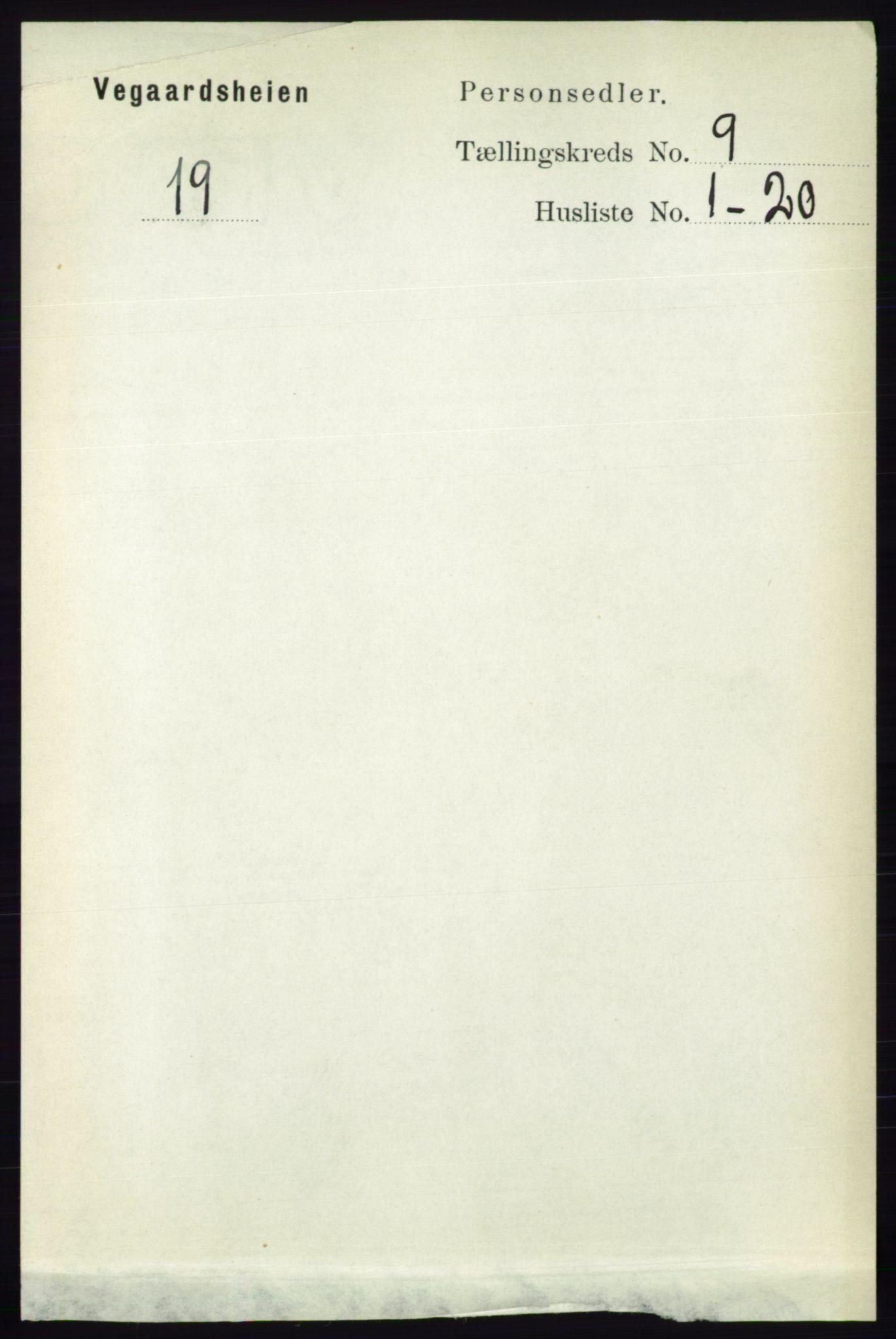 RA, Folketelling 1891 for 0912 Vegårshei herred, 1891, s. 1733
