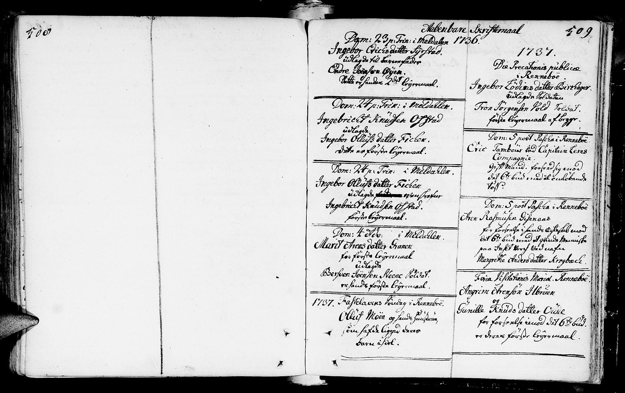 SAT, Ministerialprotokoller, klokkerbøker og fødselsregistre - Sør-Trøndelag, 672/L0850: Ministerialbok nr. 672A03, 1725-1751, s. 508-509