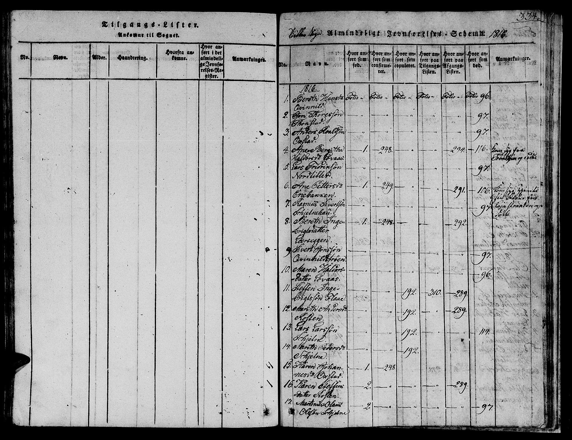SAT, Ministerialprotokoller, klokkerbøker og fødselsregistre - Sør-Trøndelag, 621/L0458: Klokkerbok nr. 621C01, 1816-1865, s. 334