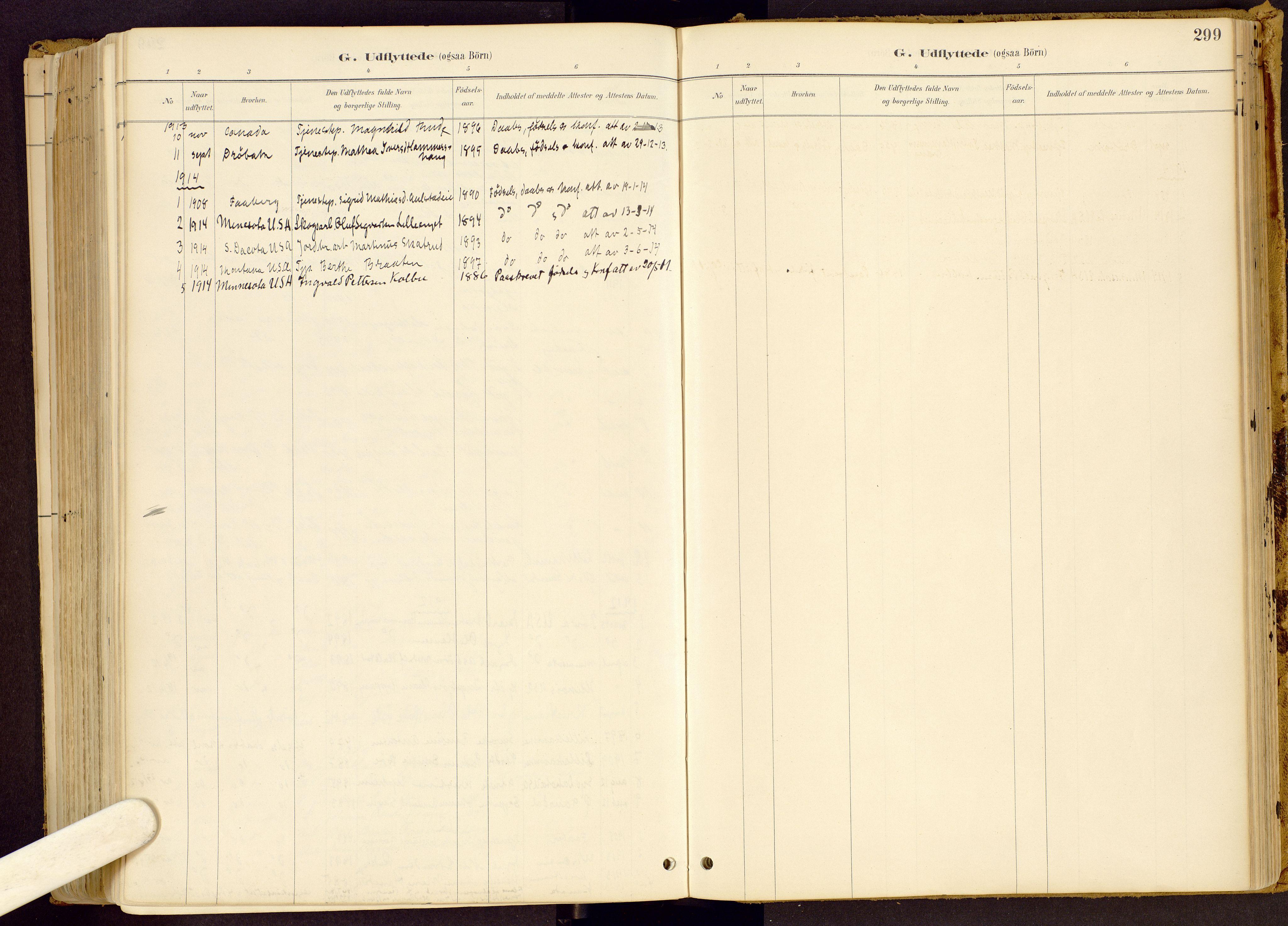 SAH, Vestre Gausdal prestekontor, Ministerialbok nr. 1, 1887-1914, s. 299