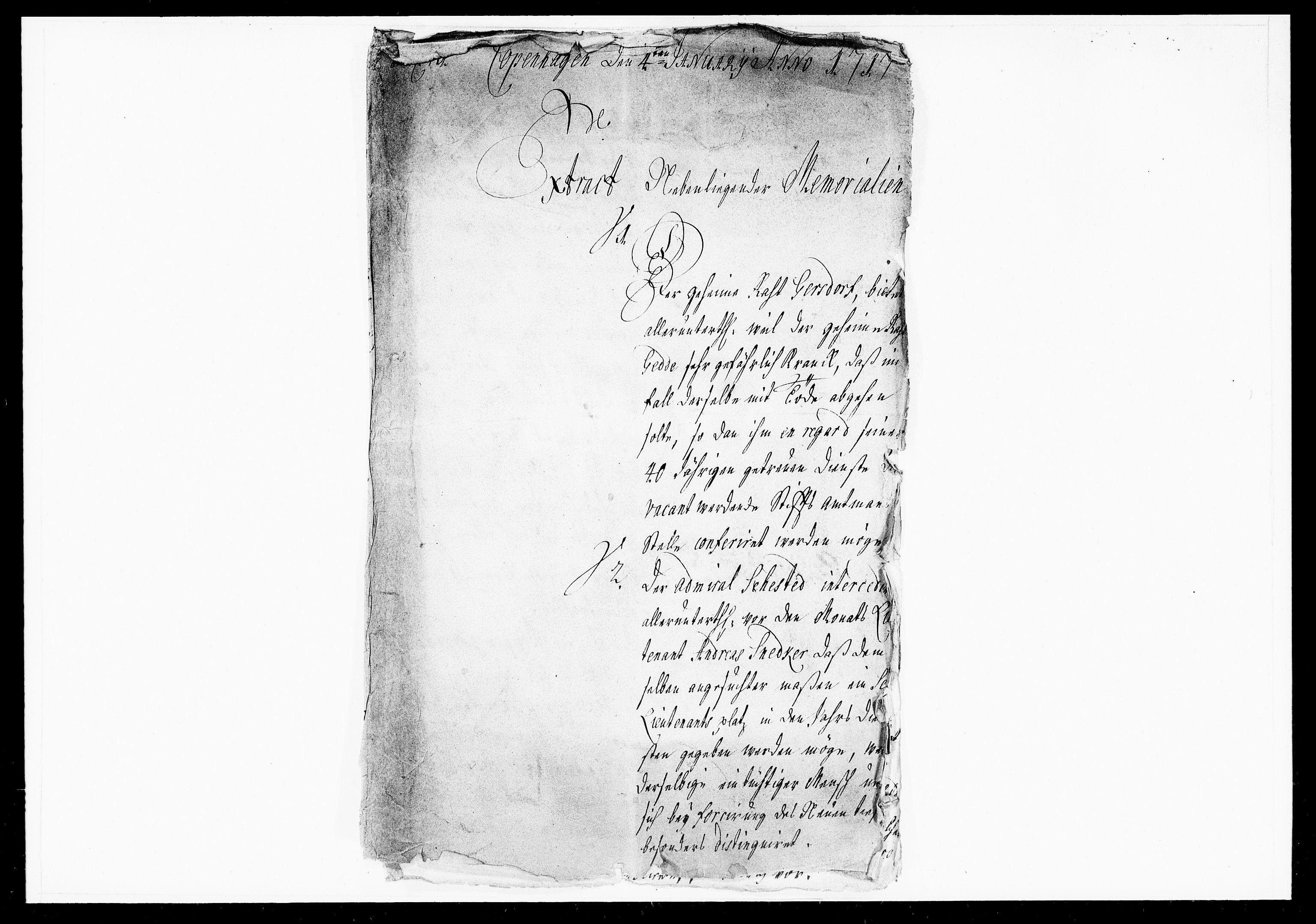 DRA, Krigskollegiet, Krigskancelliet, -/1037-1045: Refererede sager, 1717, s. 2
