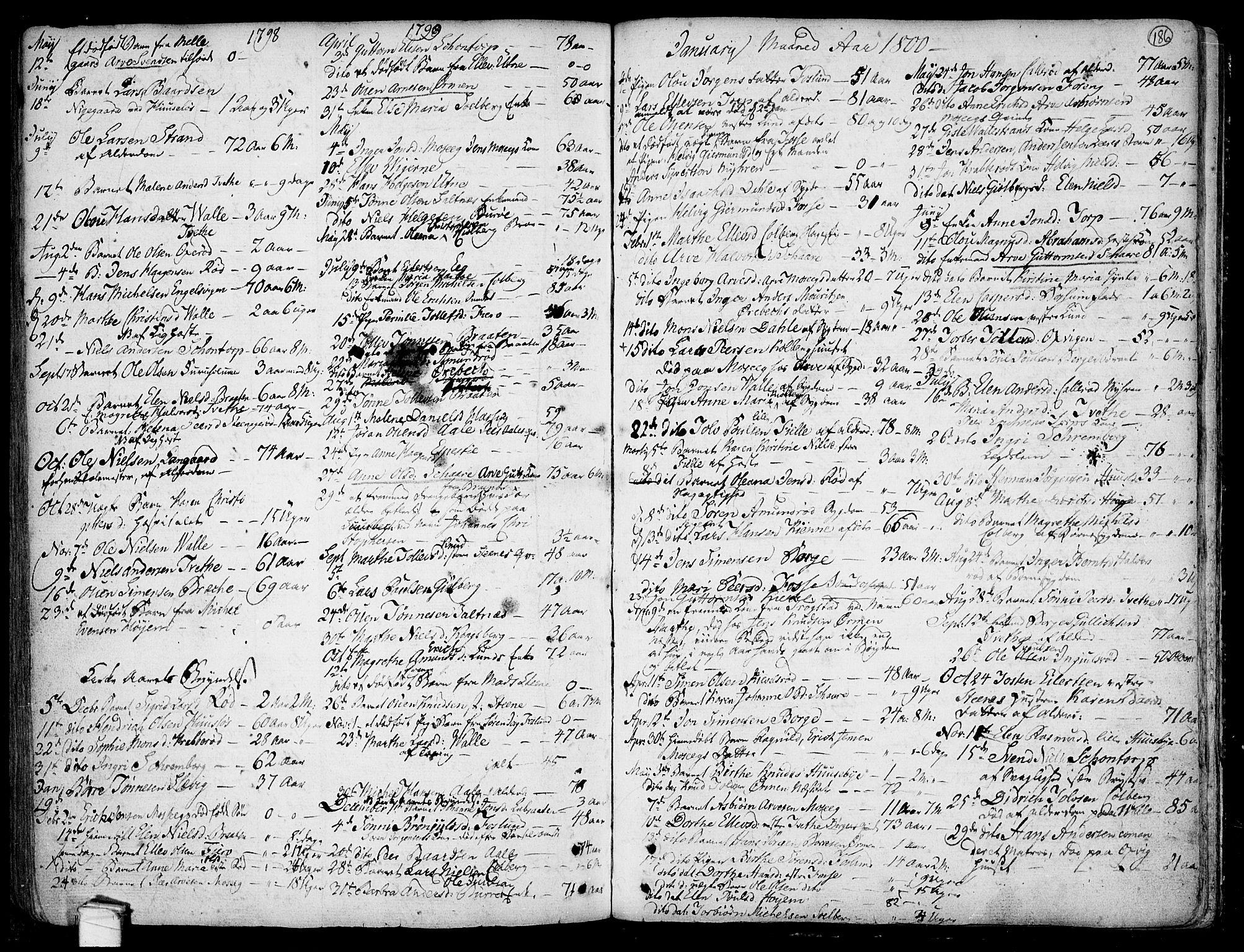 SAO, Onsøy prestekontor Kirkebøker, F/Fa/L0001: Ministerialbok nr. I 1, 1733-1814, s. 186