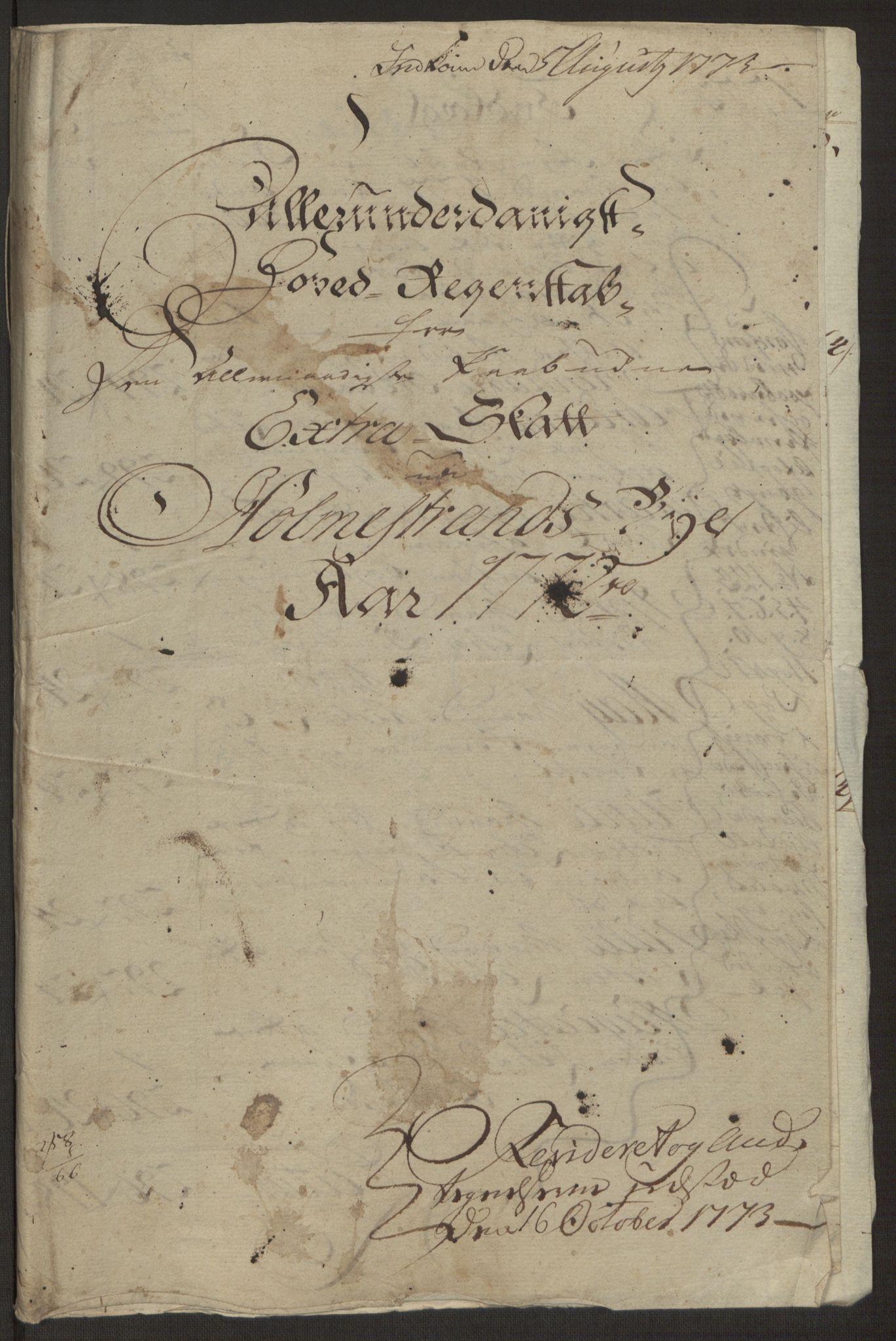 RA, Rentekammeret inntil 1814, Reviderte regnskaper, Byregnskaper, R/Rh/L0163: [H4] Kontribusjonsregnskap, 1762-1772, s. 418