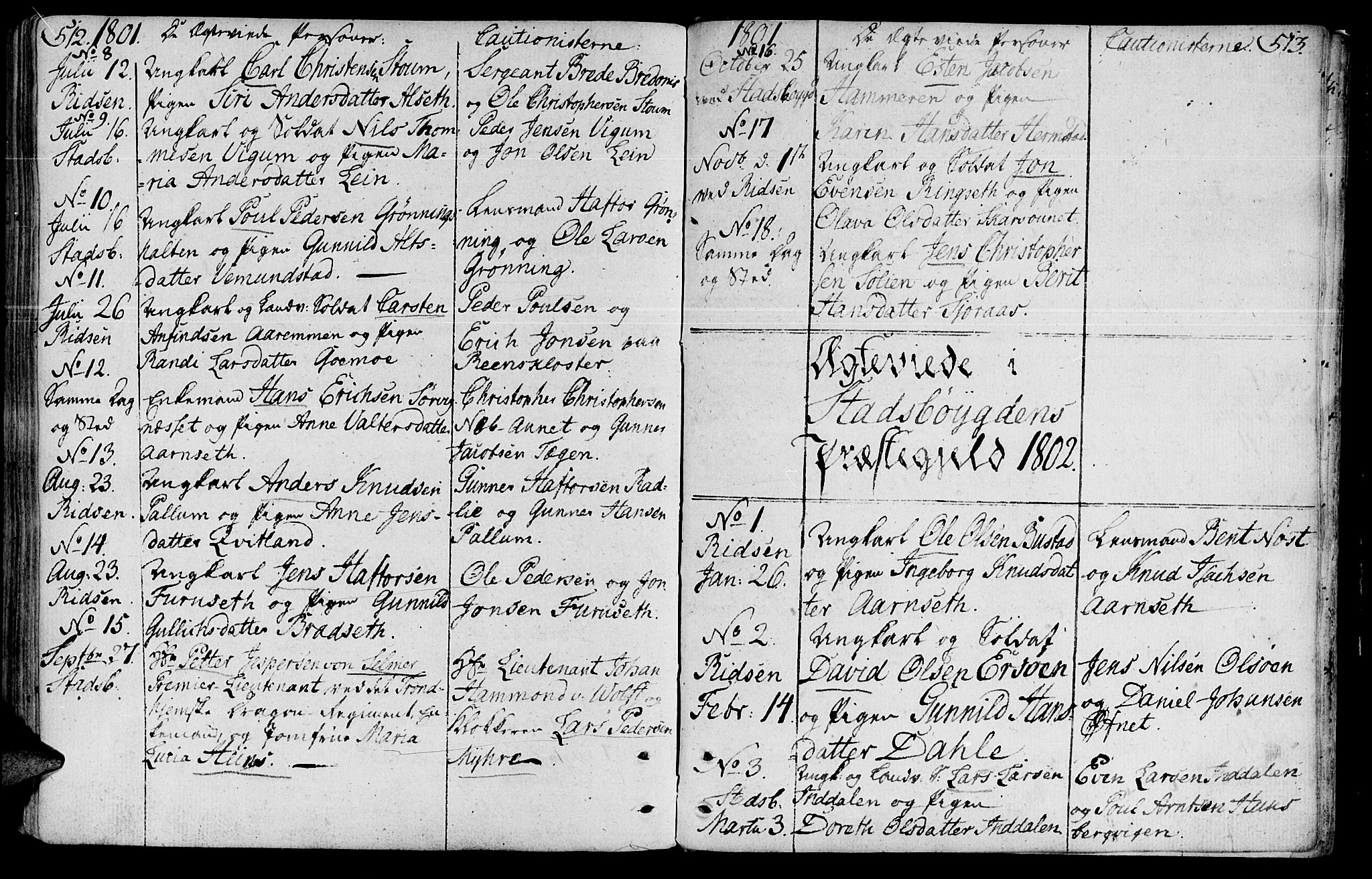 SAT, Ministerialprotokoller, klokkerbøker og fødselsregistre - Sør-Trøndelag, 646/L0606: Ministerialbok nr. 646A04, 1791-1805, s. 512-513