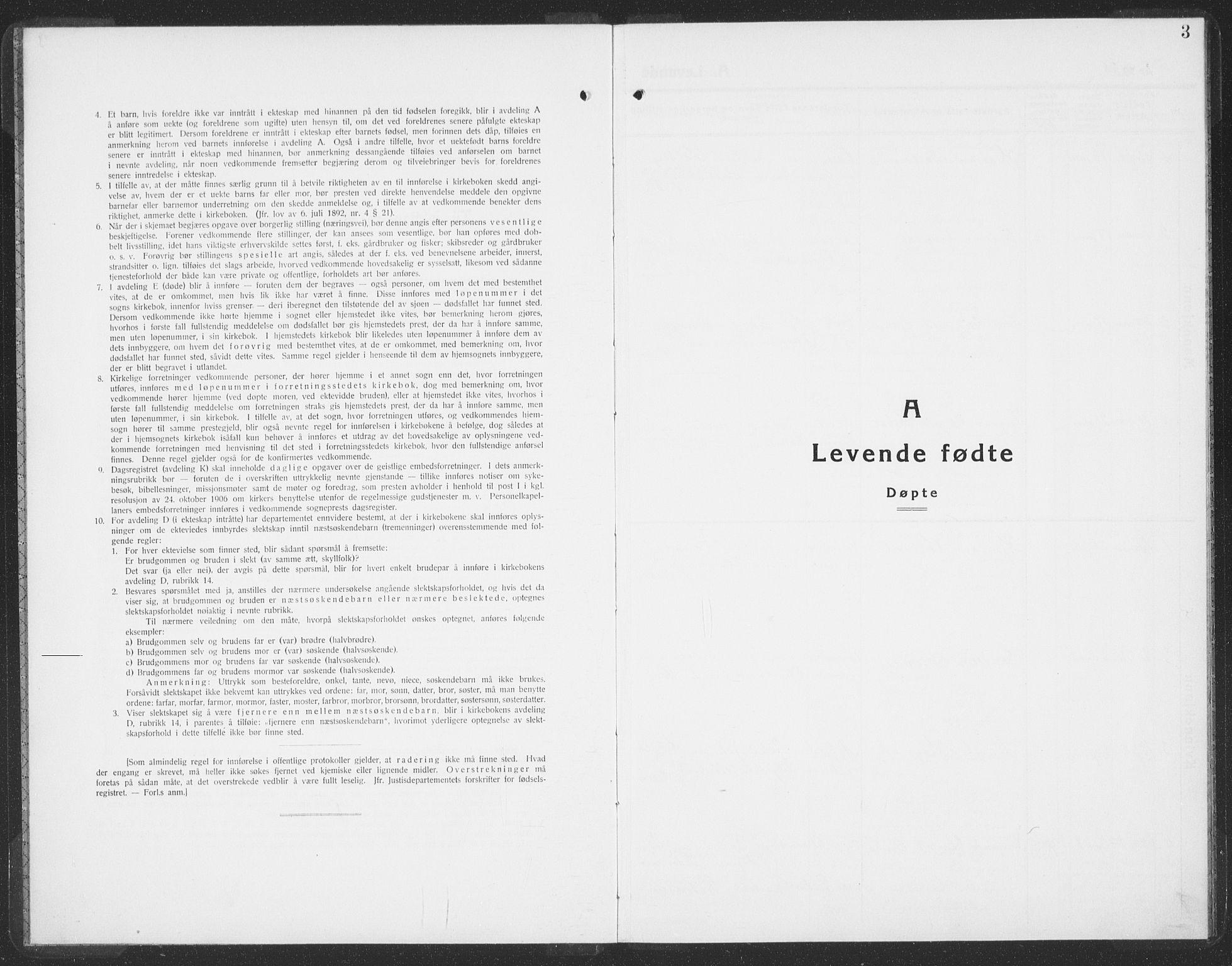 SAT, Ministerialprotokoller, klokkerbøker og fødselsregistre - Sør-Trøndelag, 692/L1114: Klokkerbok nr. 692C09, 1928-1935, s. 3