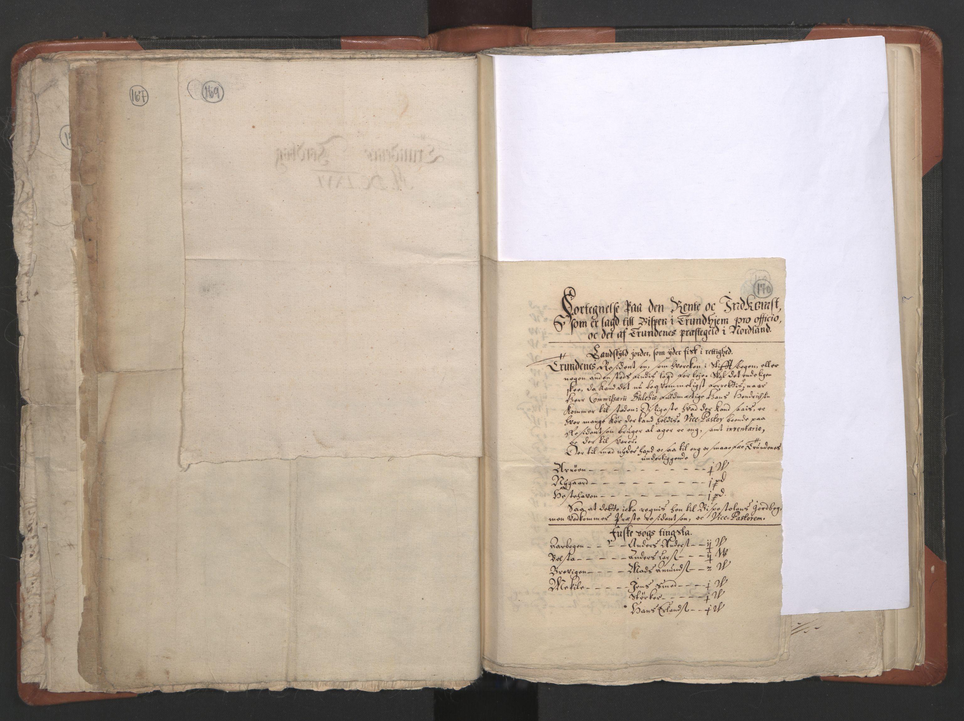 RA, Sogneprestenes manntall 1664-1666, nr. 36: Lofoten og Vesterålen prosti, Senja prosti og Troms prosti, 1664-1666, s. 169-170