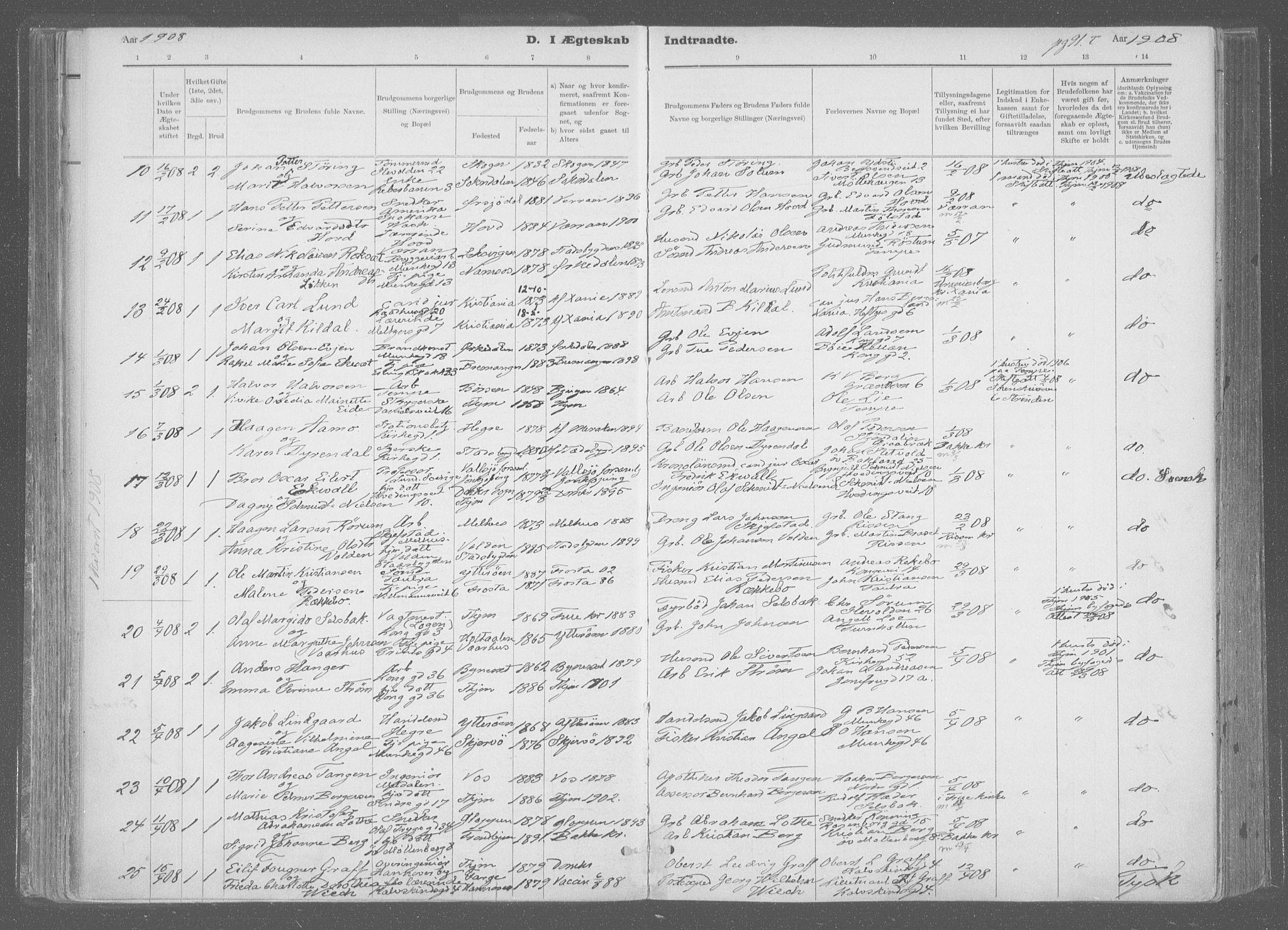 SAT, Ministerialprotokoller, klokkerbøker og fødselsregistre - Sør-Trøndelag, 601/L0064: Ministerialbok nr. 601A31, 1891-1911, s. 91