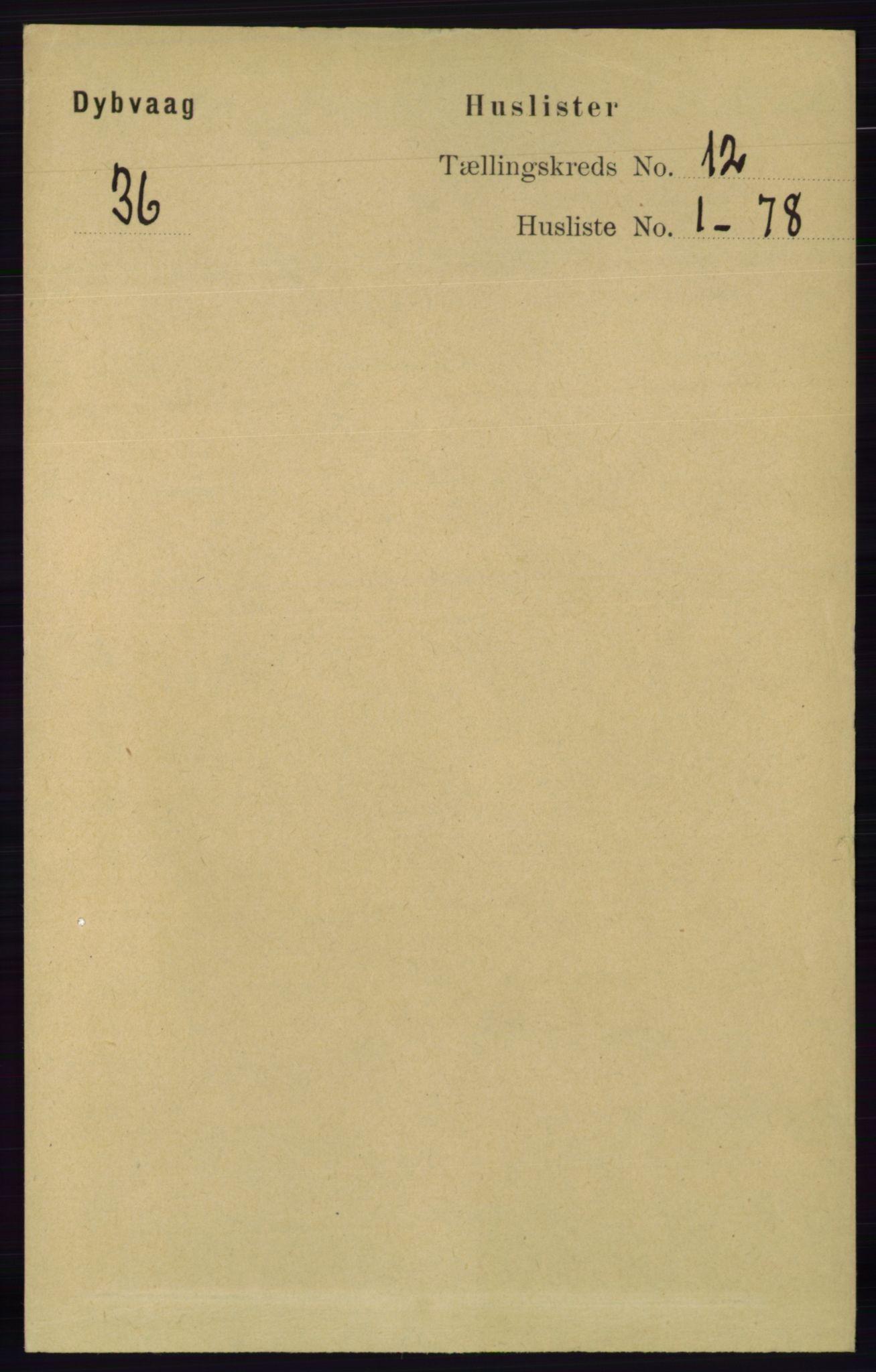 RA, Folketelling 1891 for 0915 Dypvåg herred, 1891, s. 4661
