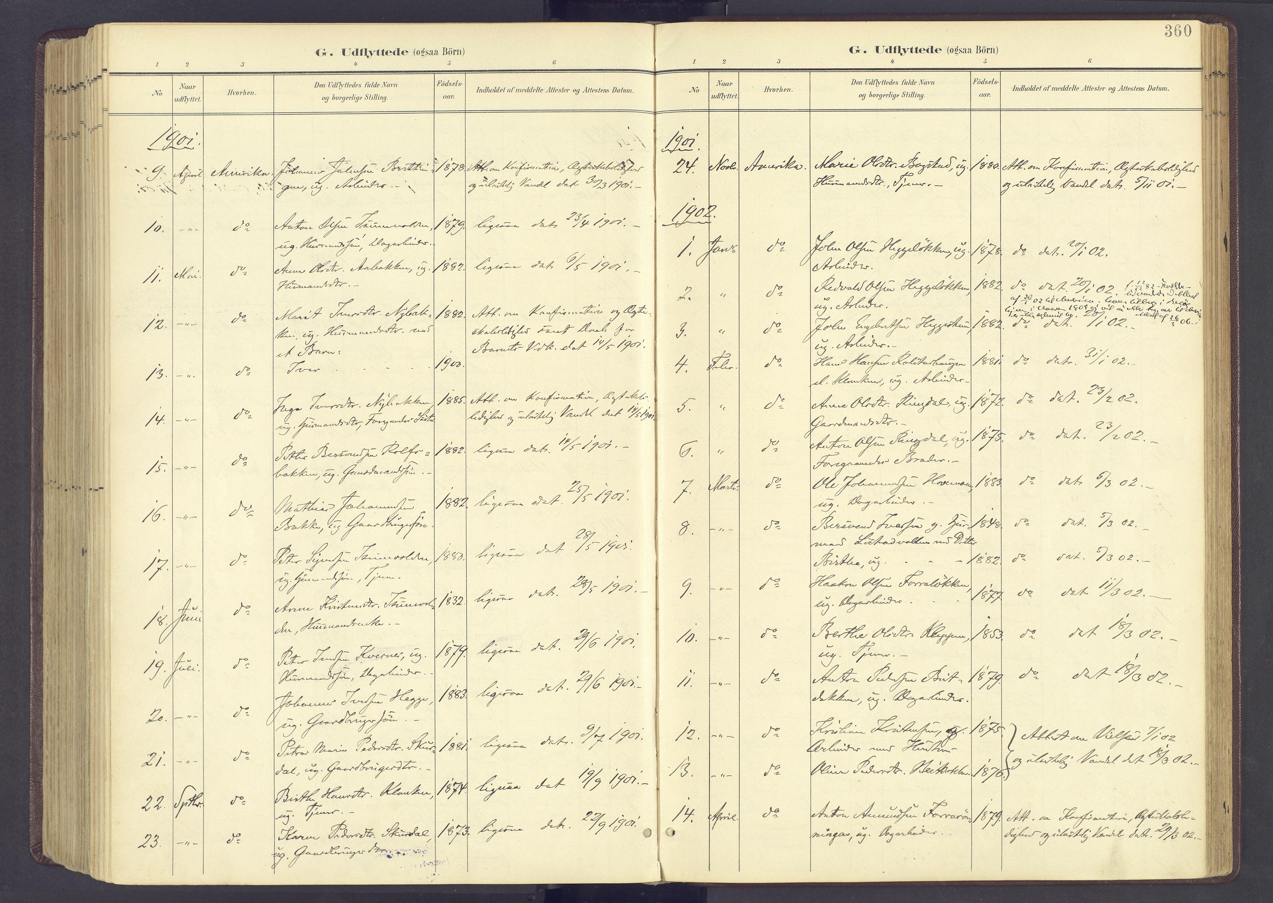 SAH, Sør-Fron prestekontor, H/Ha/Haa/L0004: Ministerialbok nr. 4, 1898-1919, s. 360