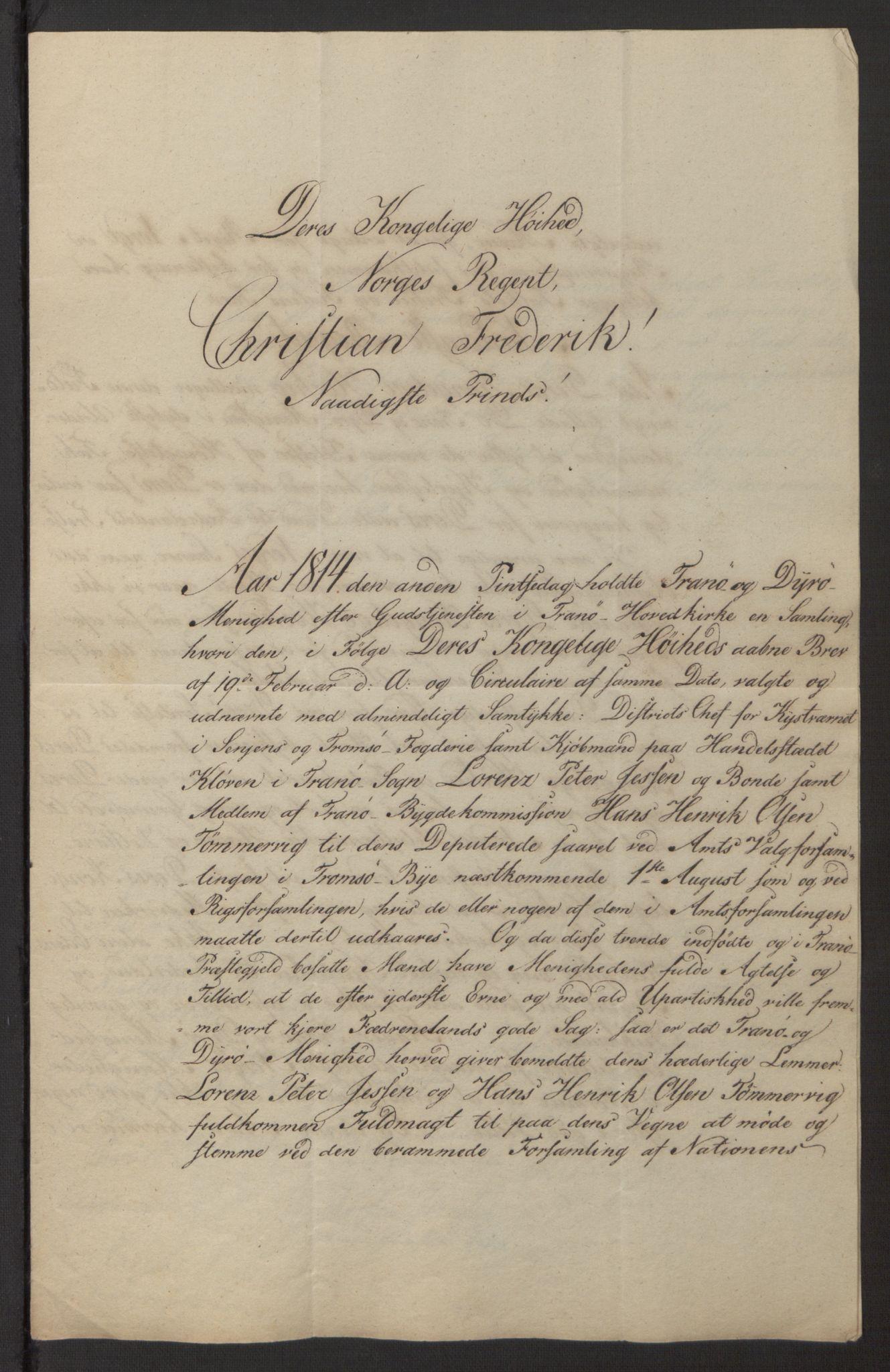 SATØ, Amtmannen/Fylkesmannen i Finnmark*, 1814, s. 44