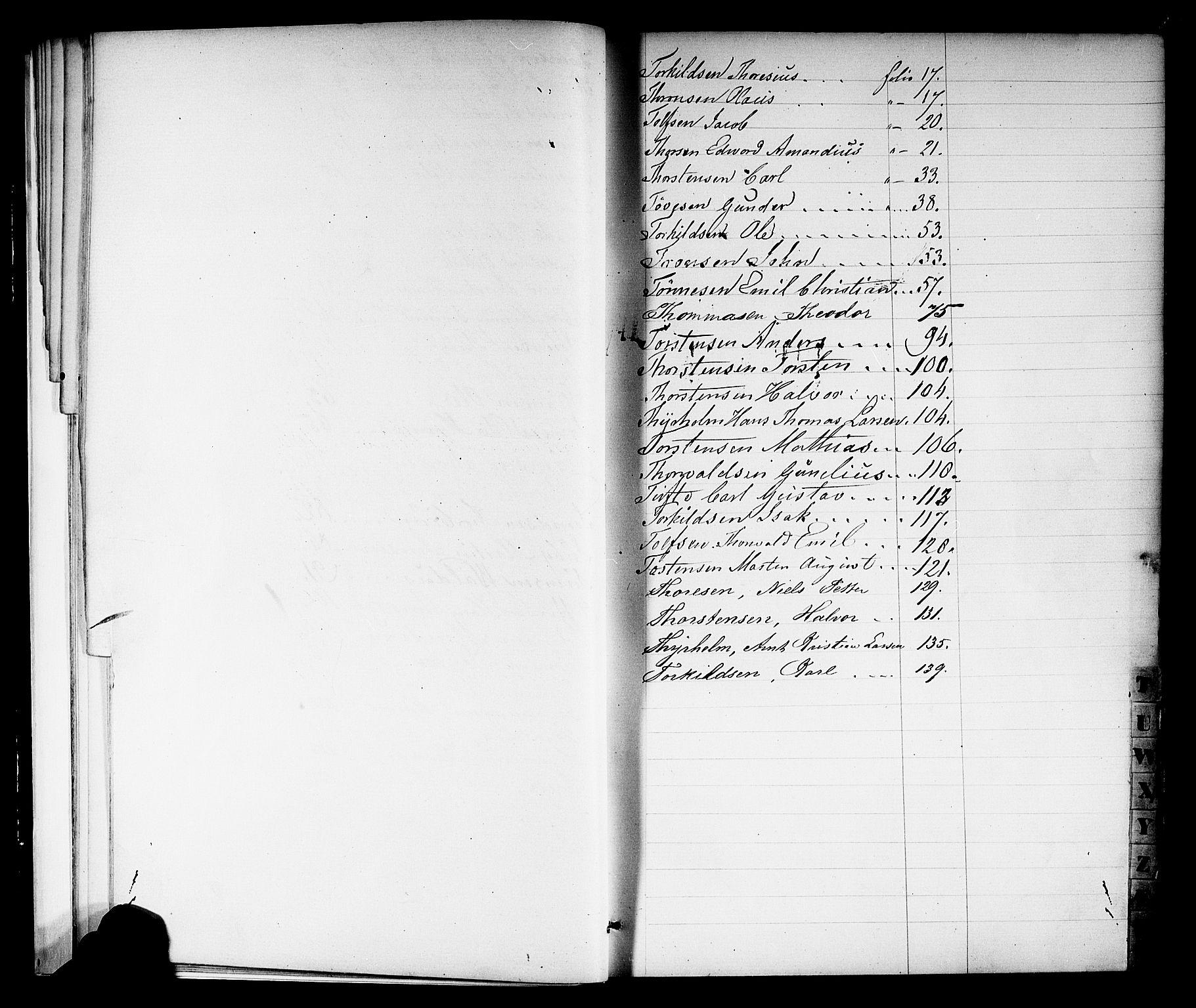 SAKO, Porsgrunn innrulleringskontor, F/Fb/L0001: Annotasjonsrulle, 1860-1868, s. 21