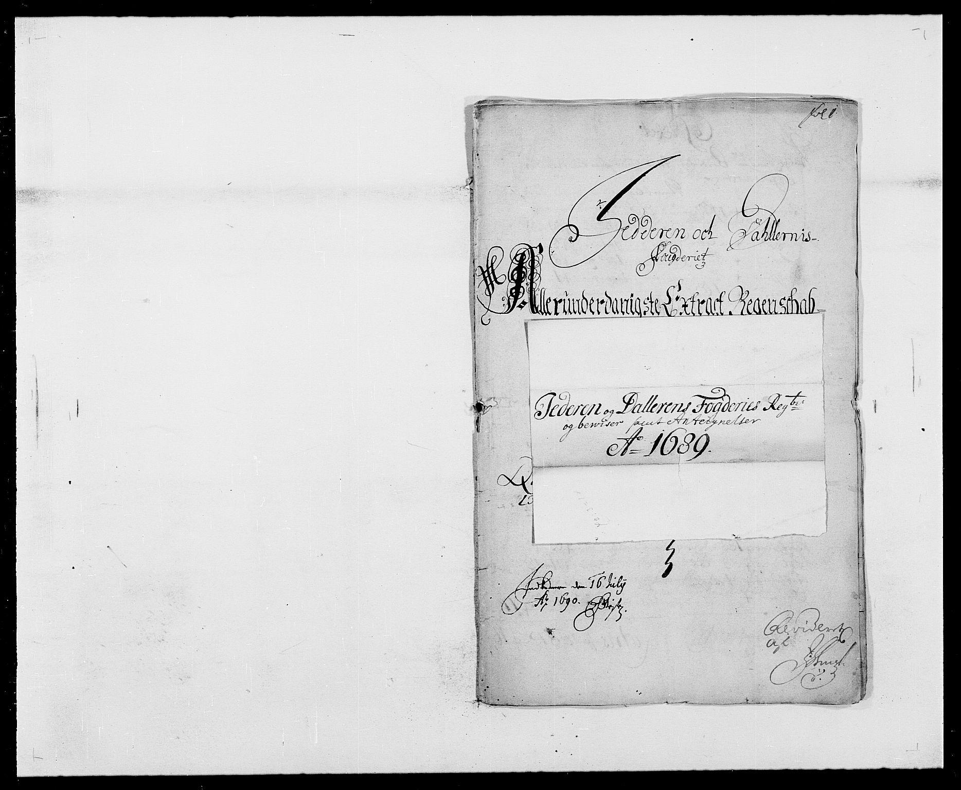 RA, Rentekammeret inntil 1814, Reviderte regnskaper, Fogderegnskap, R46/L2726: Fogderegnskap Jæren og Dalane, 1686-1689, s. 320