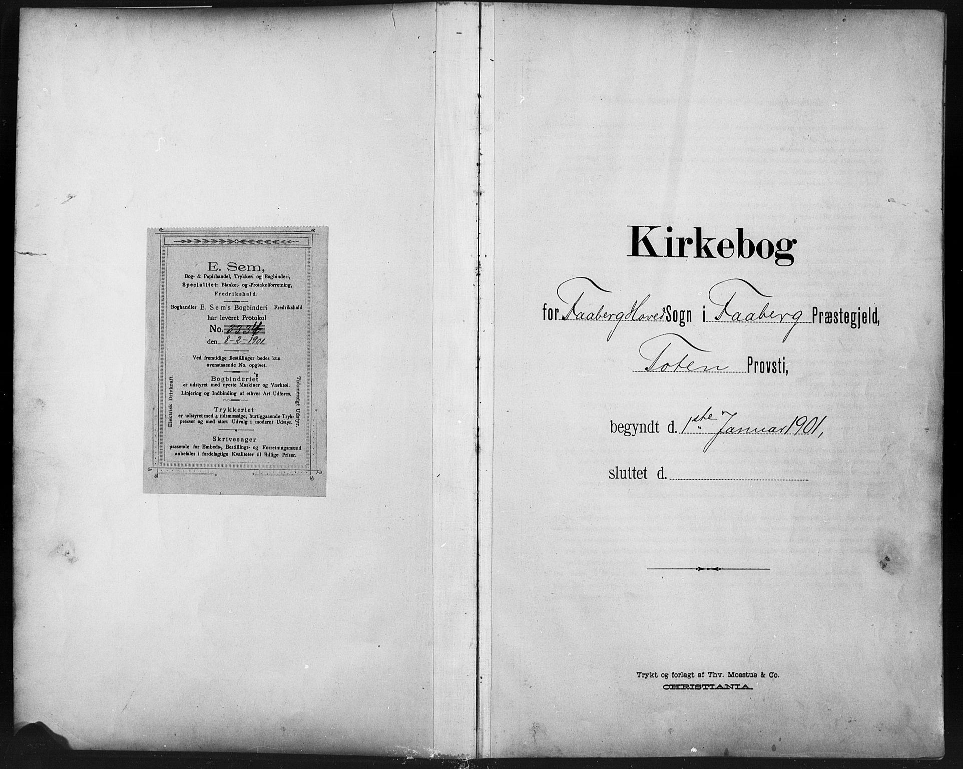 SAH, Fåberg prestekontor, Klokkerbok nr. 11, 1901-1921