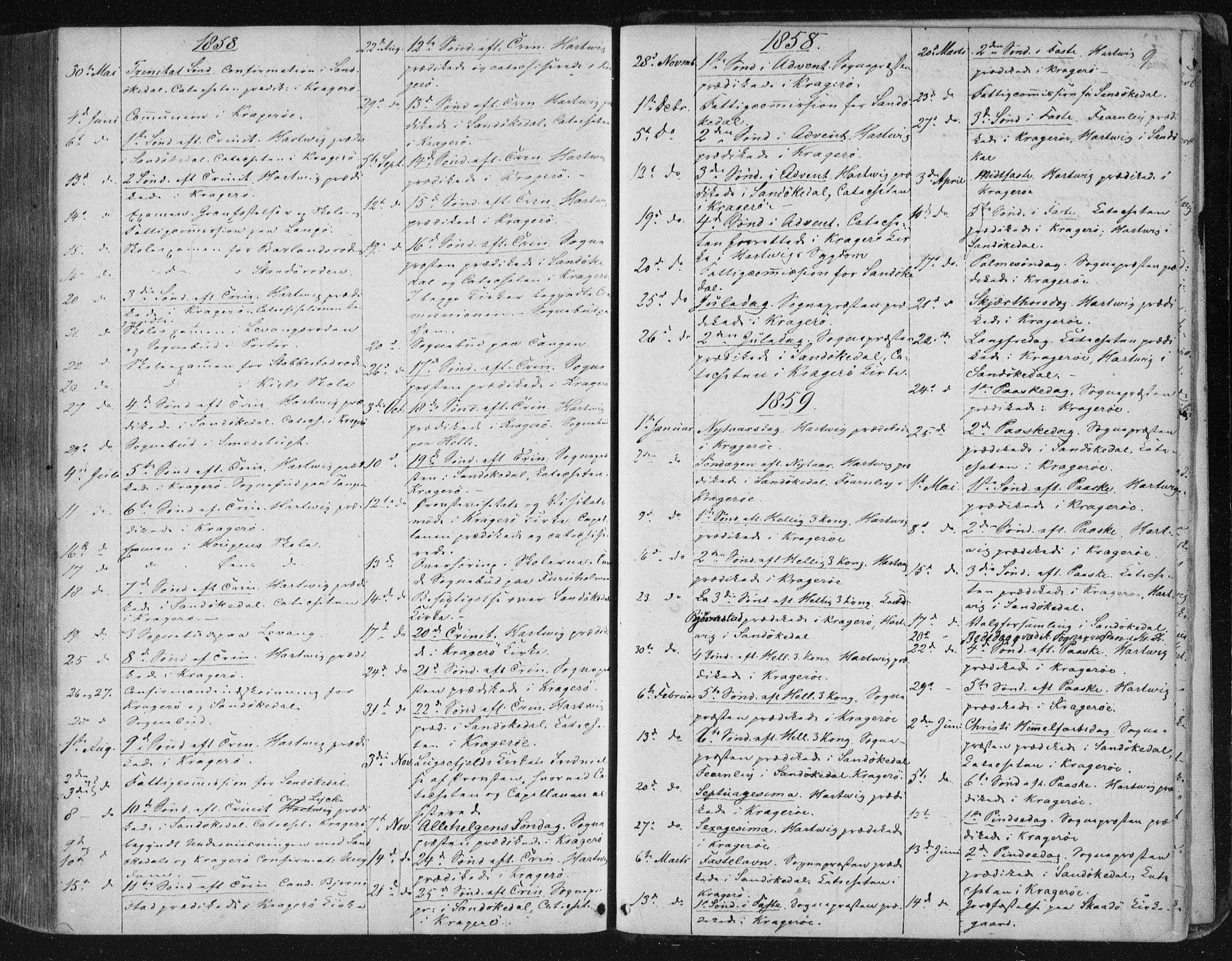 SAKO, Kragerø kirkebøker, F/Fa/L0006: Ministerialbok nr. 6, 1847-1861, s. 9