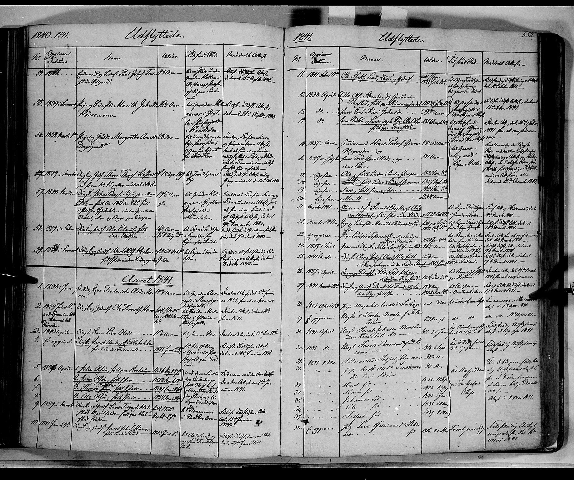 SAH, Lom prestekontor, K/L0006: Ministerialbok nr. 6B, 1837-1863, s. 552