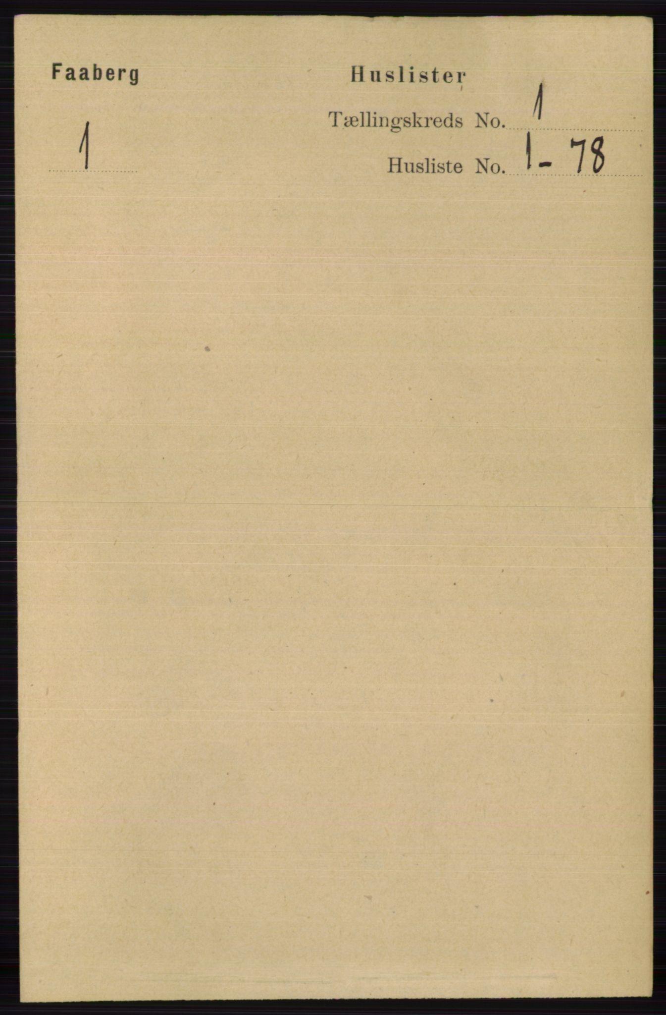 RA, Folketelling 1891 for 0524 Fåberg herred, 1891, s. 37