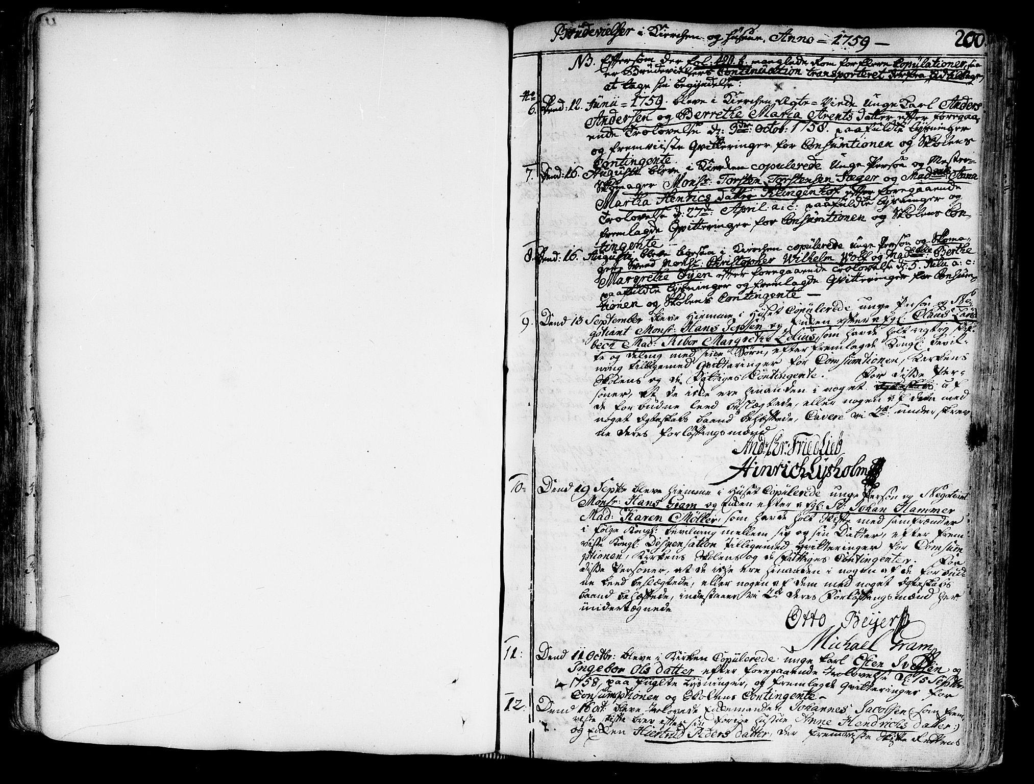 SAT, Ministerialprotokoller, klokkerbøker og fødselsregistre - Sør-Trøndelag, 602/L0103: Ministerialbok nr. 602A01, 1732-1774, s. 200