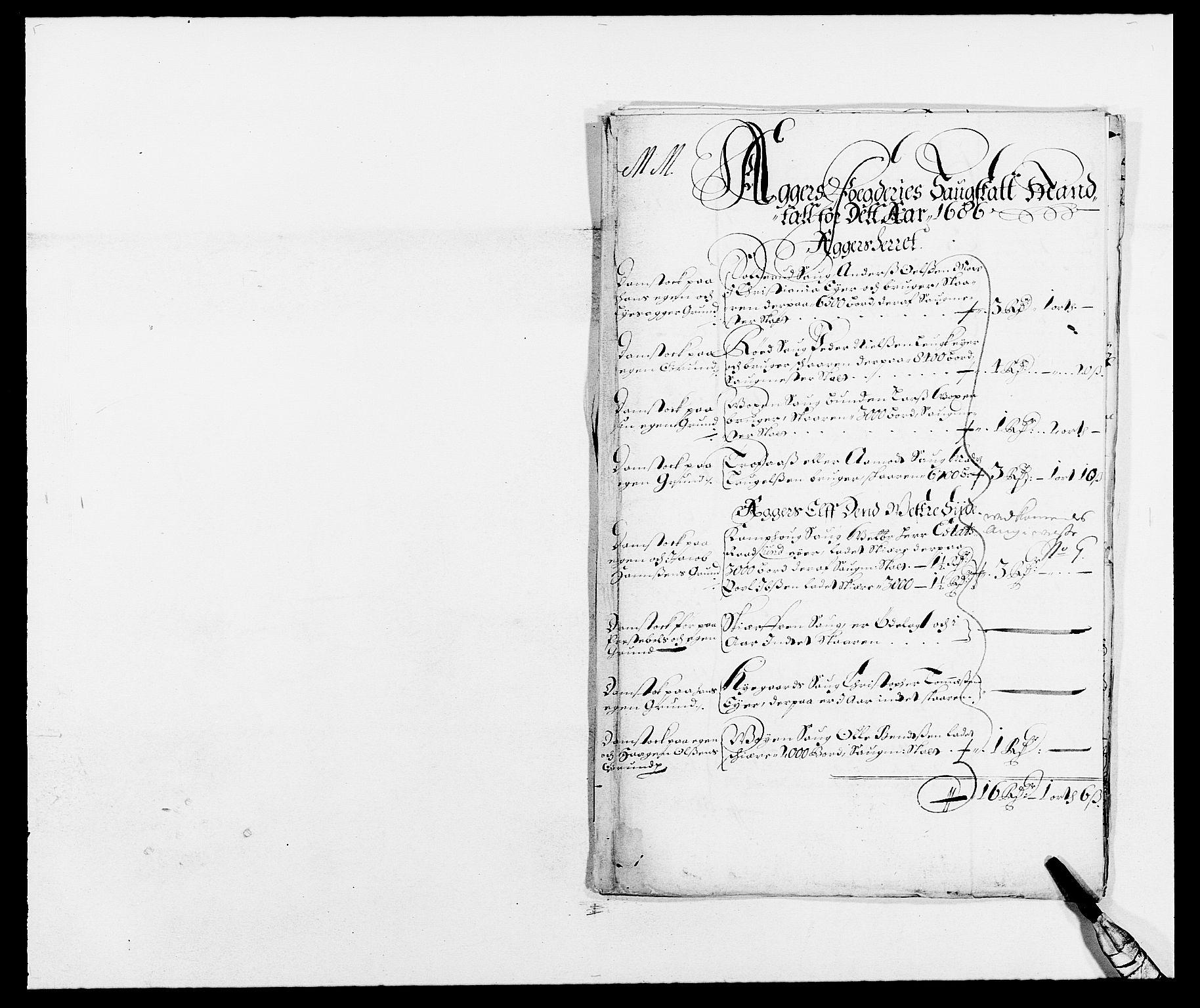 RA, Rentekammeret inntil 1814, Reviderte regnskaper, Fogderegnskap, R08/L0422: Fogderegnskap Aker, 1684-1686, s. 85