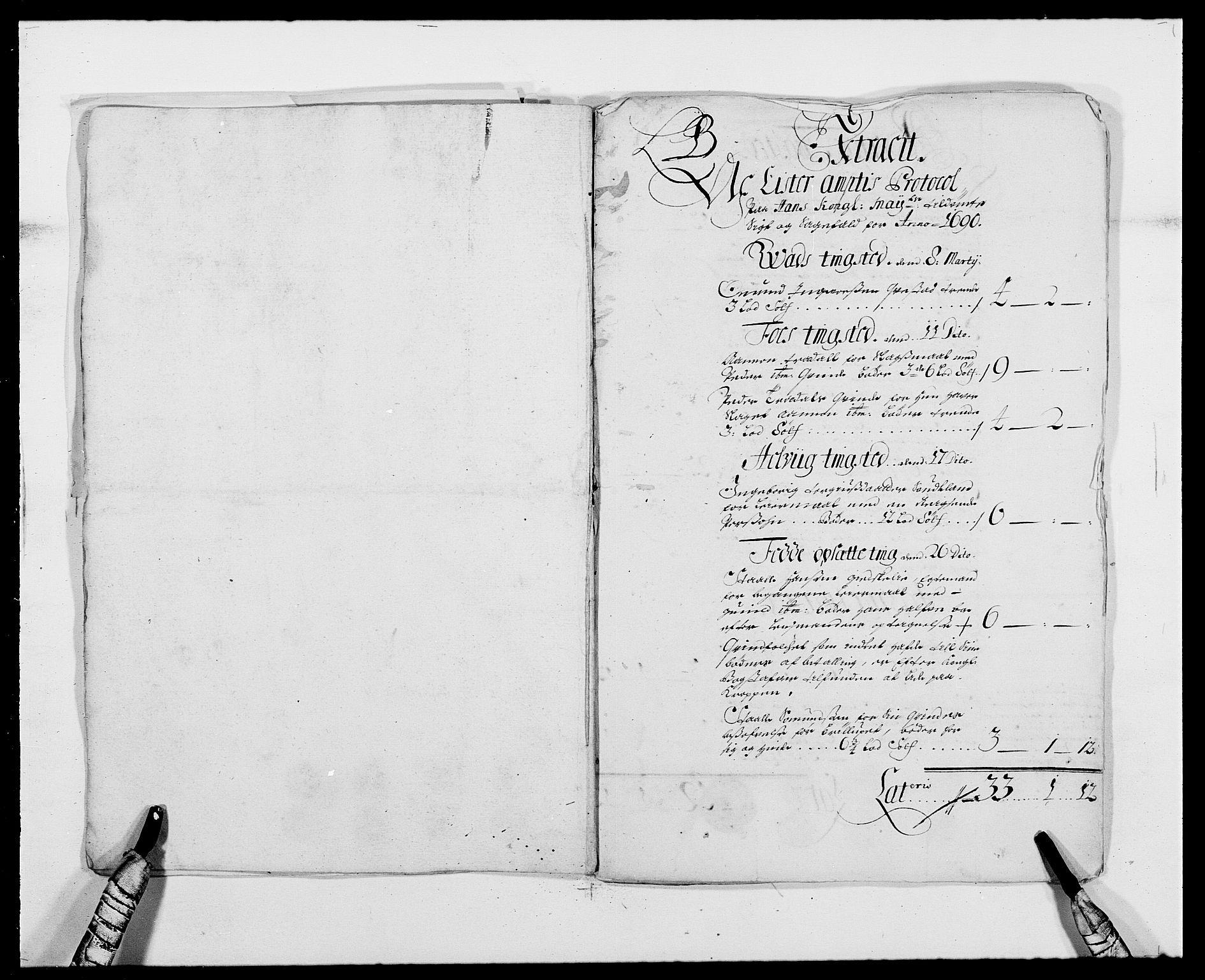 RA, Rentekammeret inntil 1814, Reviderte regnskaper, Fogderegnskap, R41/L2536: Fogderegnskap Lista, 1690-1693, s. 42