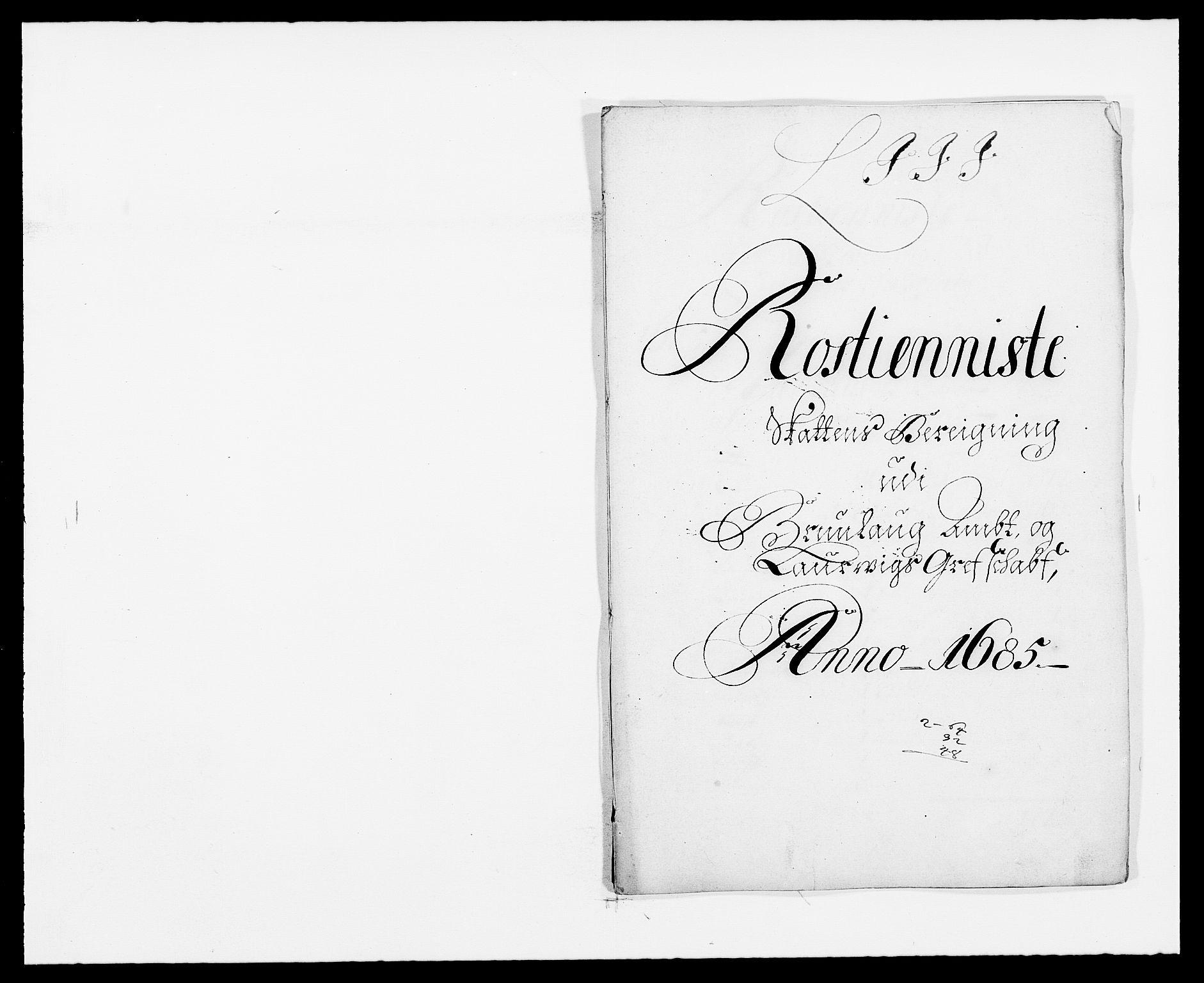 RA, Rentekammeret inntil 1814, Reviderte regnskaper, Fogderegnskap, R33/L1970: Fogderegnskap Larvik grevskap, 1675-1687, s. 111