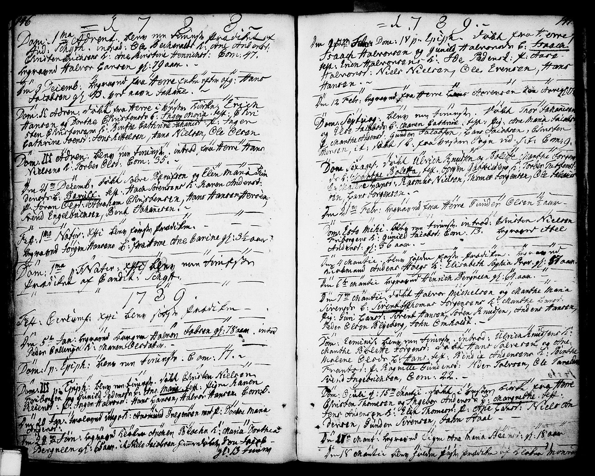 SAKO, Porsgrunn kirkebøker , F/Fa/L0002: Ministerialbok nr. 2, 1764-1814, s. 146-147