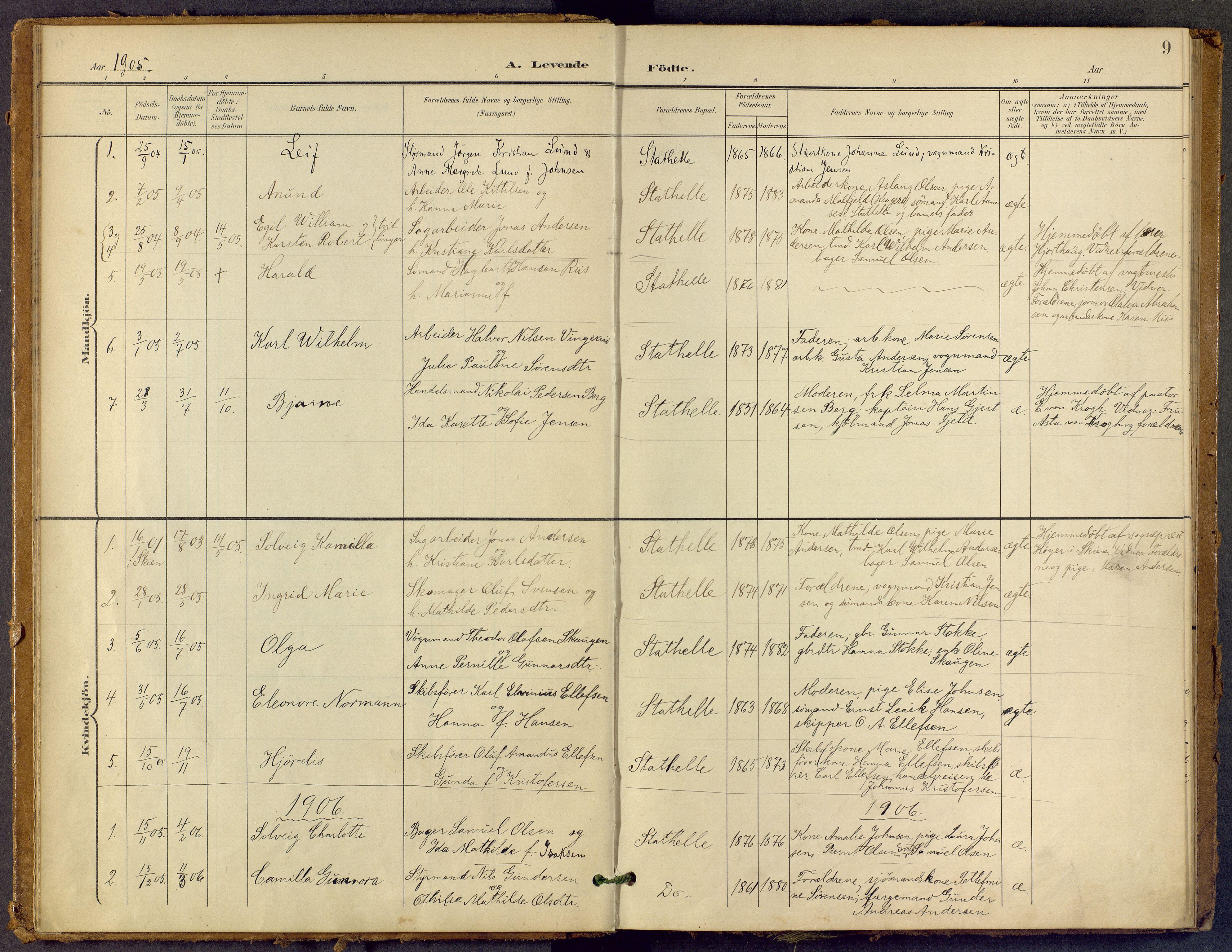 SAKO, Bamble kirkebøker, F/Fb/L0002: Ministerialbok nr. II 2, 1900-1921, s. 9
