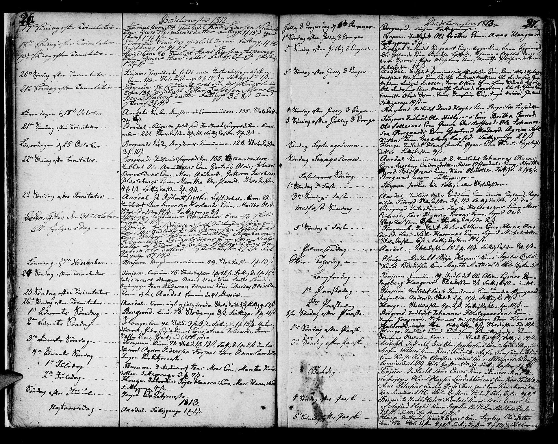 SAB, Lærdal sokneprestembete, Ministerialbok nr. A 4, 1805-1821, s. 26-27
