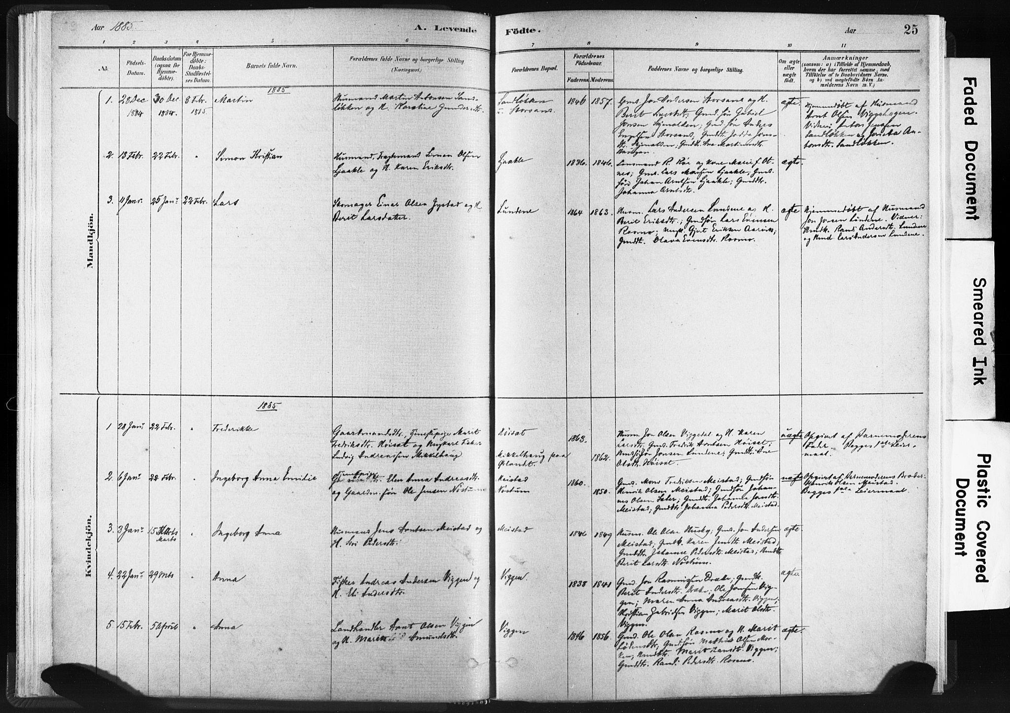 SAT, Ministerialprotokoller, klokkerbøker og fødselsregistre - Sør-Trøndelag, 665/L0773: Ministerialbok nr. 665A08, 1879-1905, s. 25