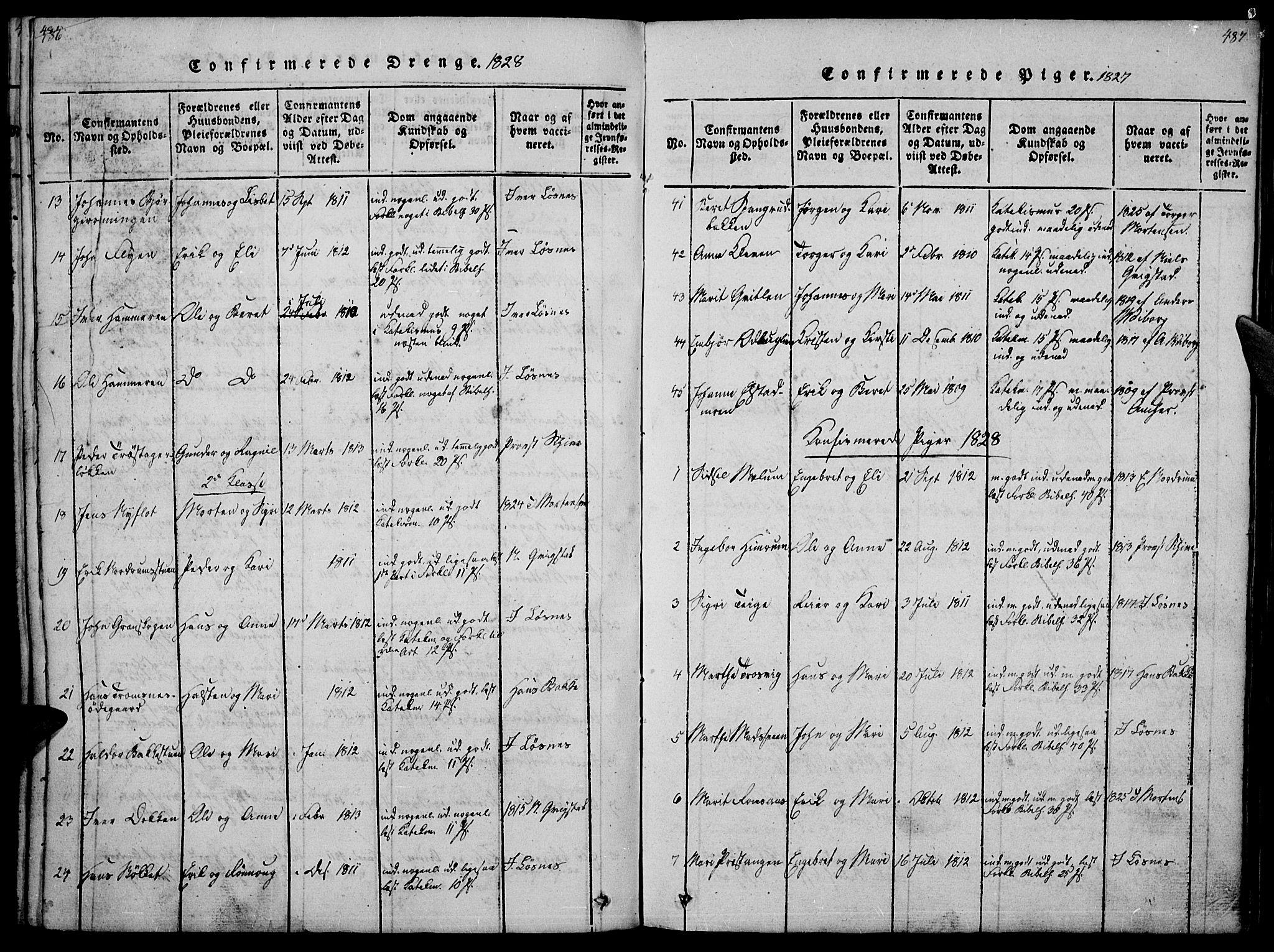 SAH, Ringebu prestekontor, Ministerialbok nr. 4, 1821-1839, s. 486-487