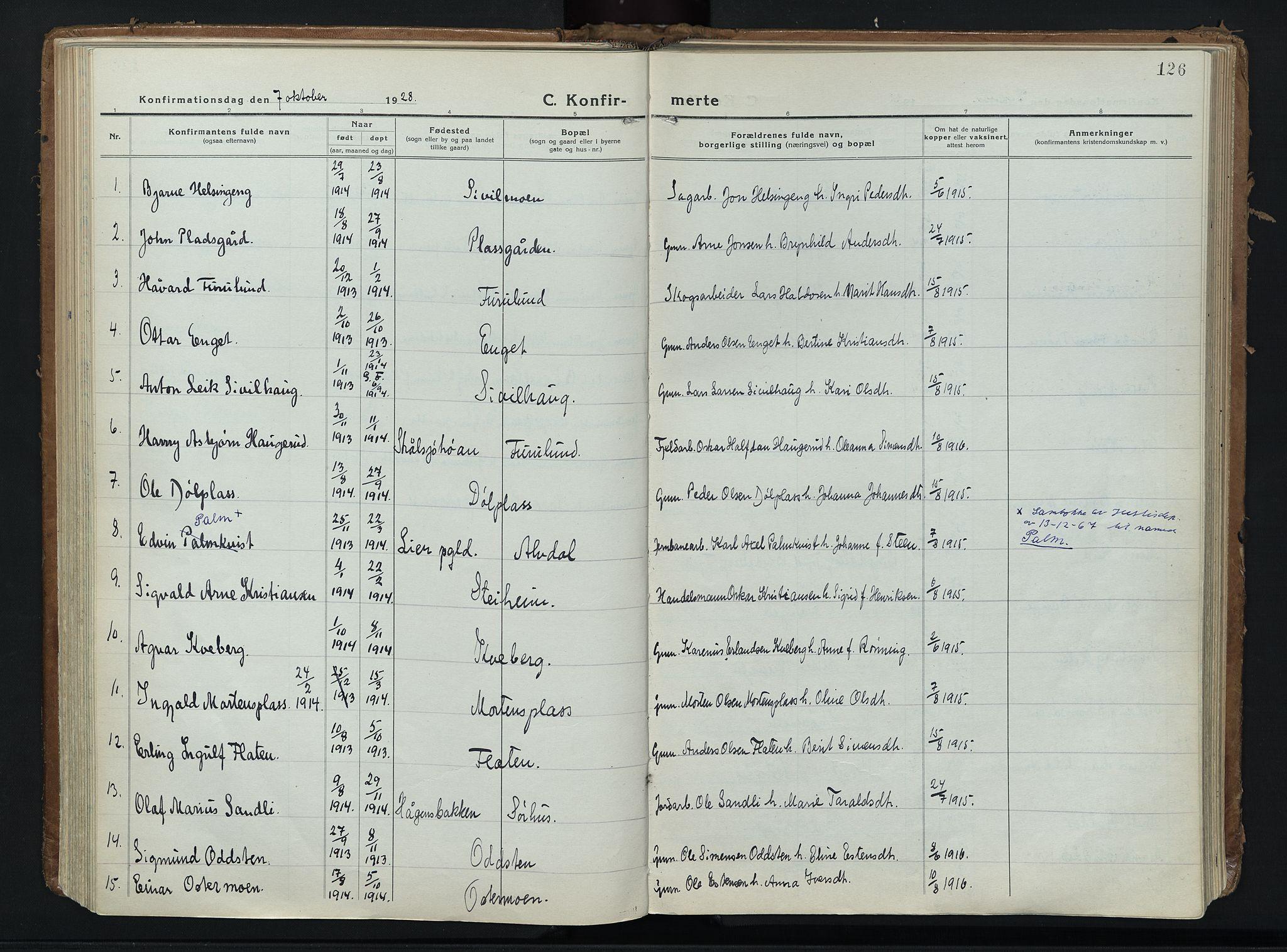 SAH, Alvdal prestekontor, Ministerialbok nr. 6, 1920-1937, s. 126
