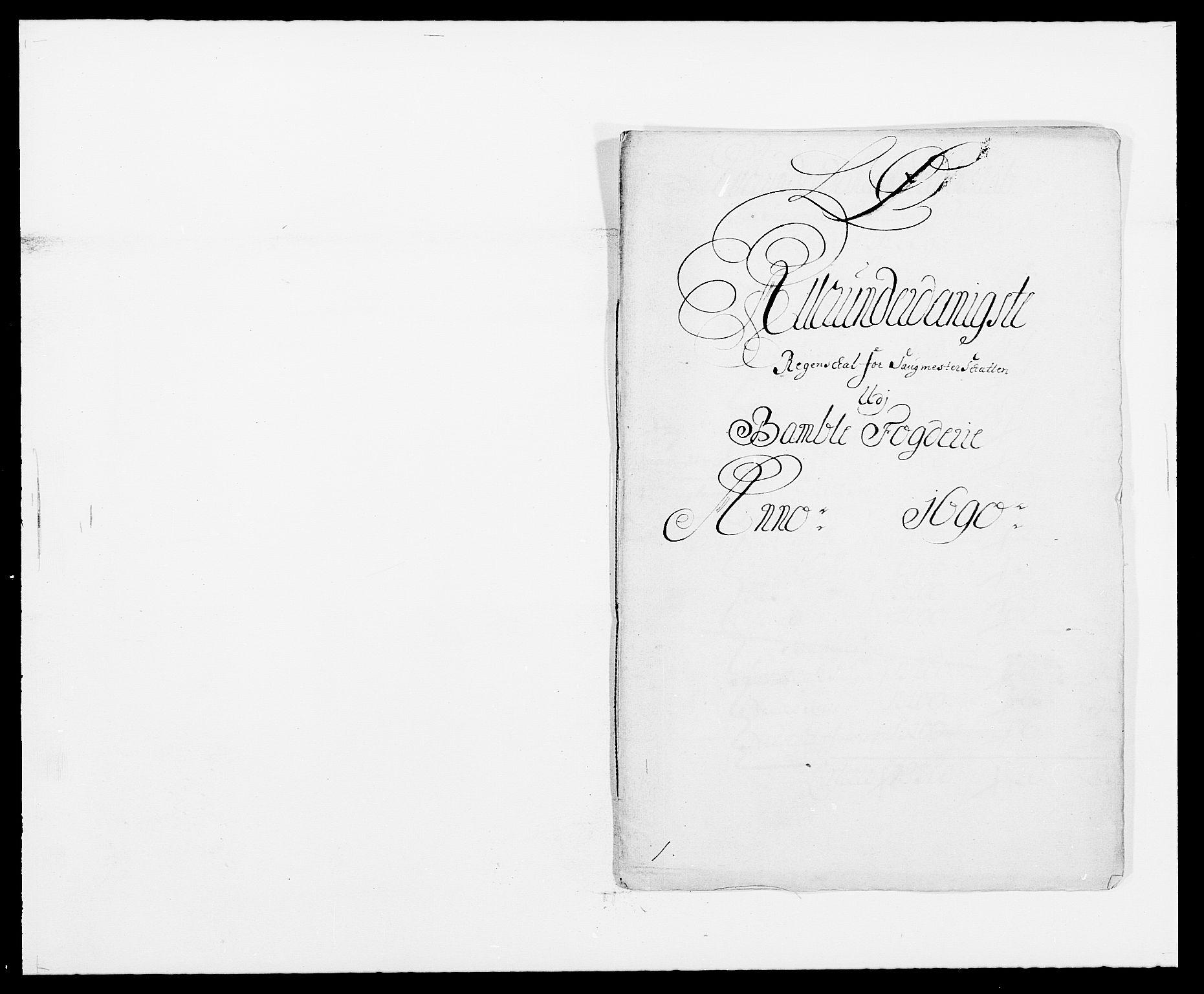 RA, Rentekammeret inntil 1814, Reviderte regnskaper, Fogderegnskap, R34/L2051: Fogderegnskap Bamble, 1688-1691, s. 75