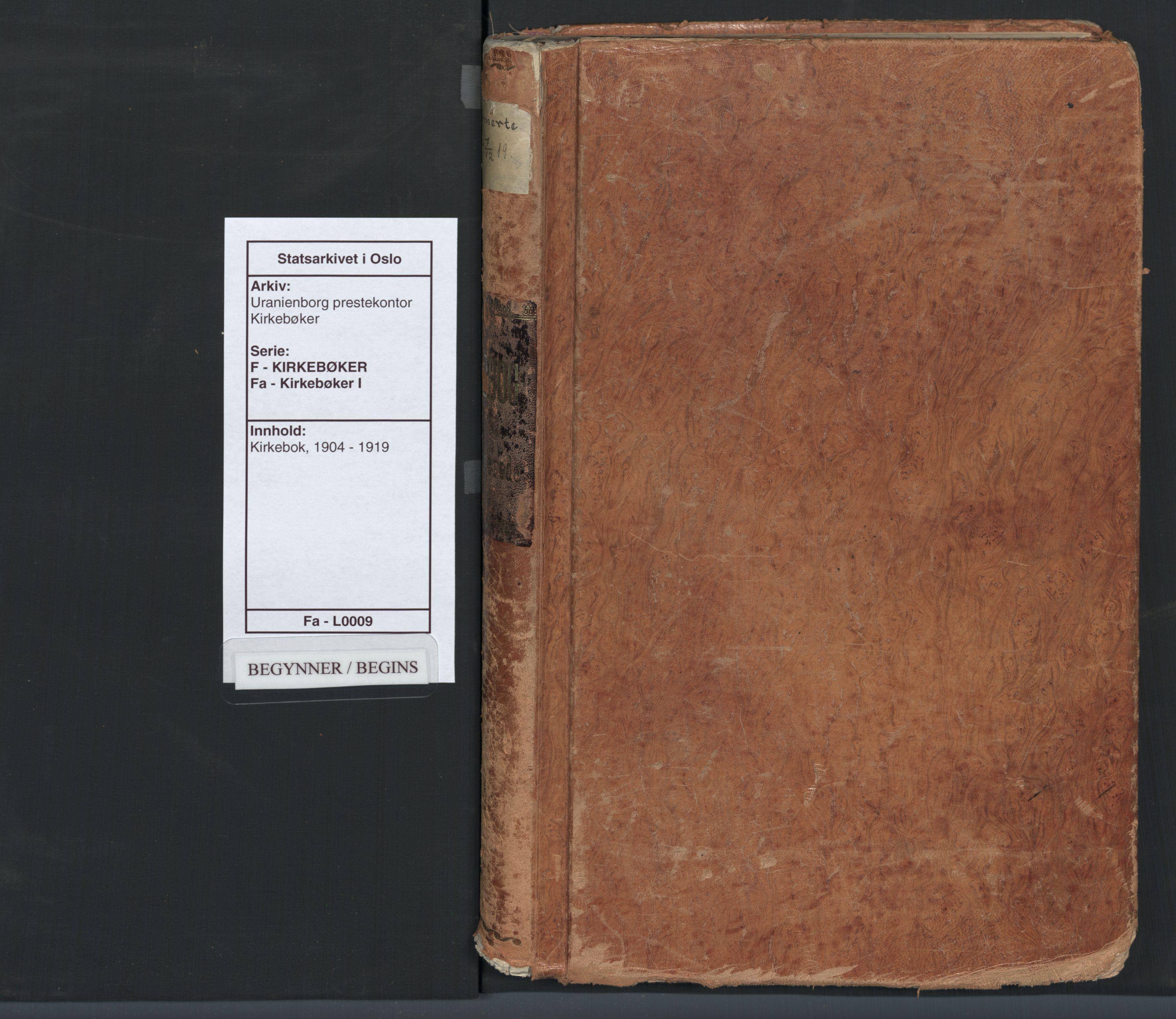 SAO, Uranienborg prestekontor Kirkebøker, F/Fa/L0009: Ministerialbok nr. 9, 1904-1919