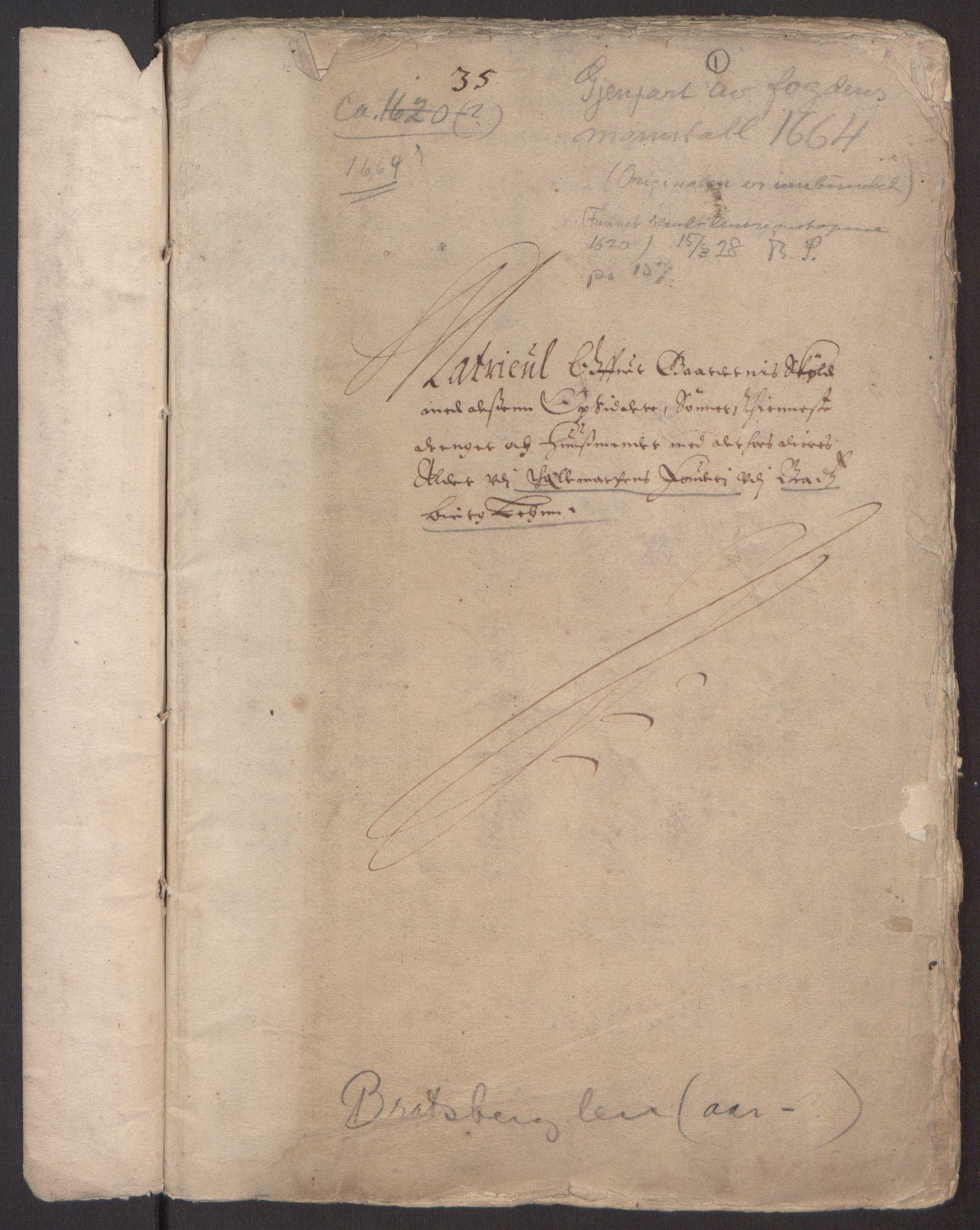 RA, Rentekammeret inntil 1814, Reviderte regnskaper, Fogderegnskap, R35/L2055: Fogderegnskap Øvre og Nedre Telemark, 1664, s. 344