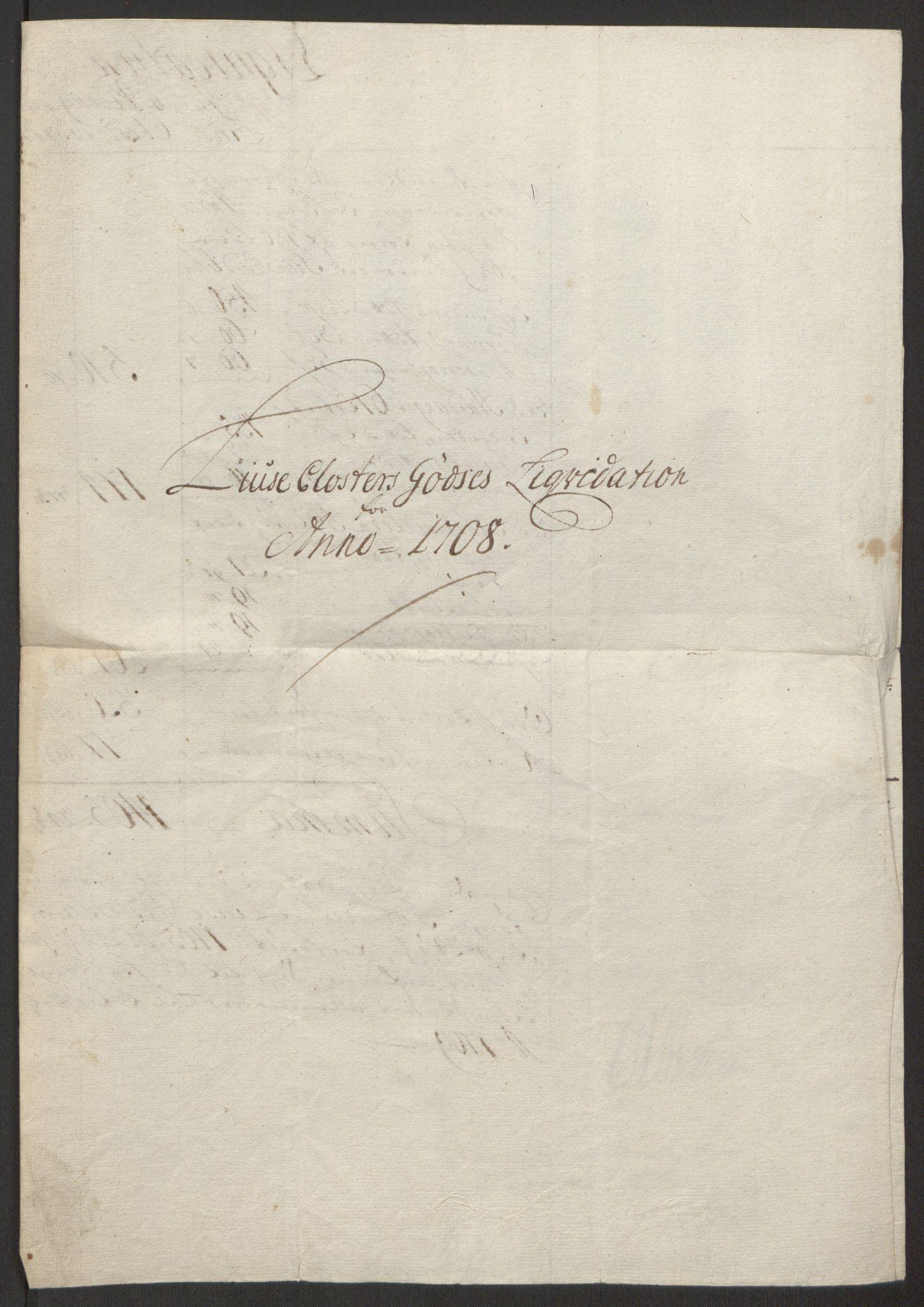 RA, Rentekammeret inntil 1814, Reviderte regnskaper, Fogderegnskap, R50/L3159: Fogderegnskap Lyse kloster, 1691-1709, s. 291