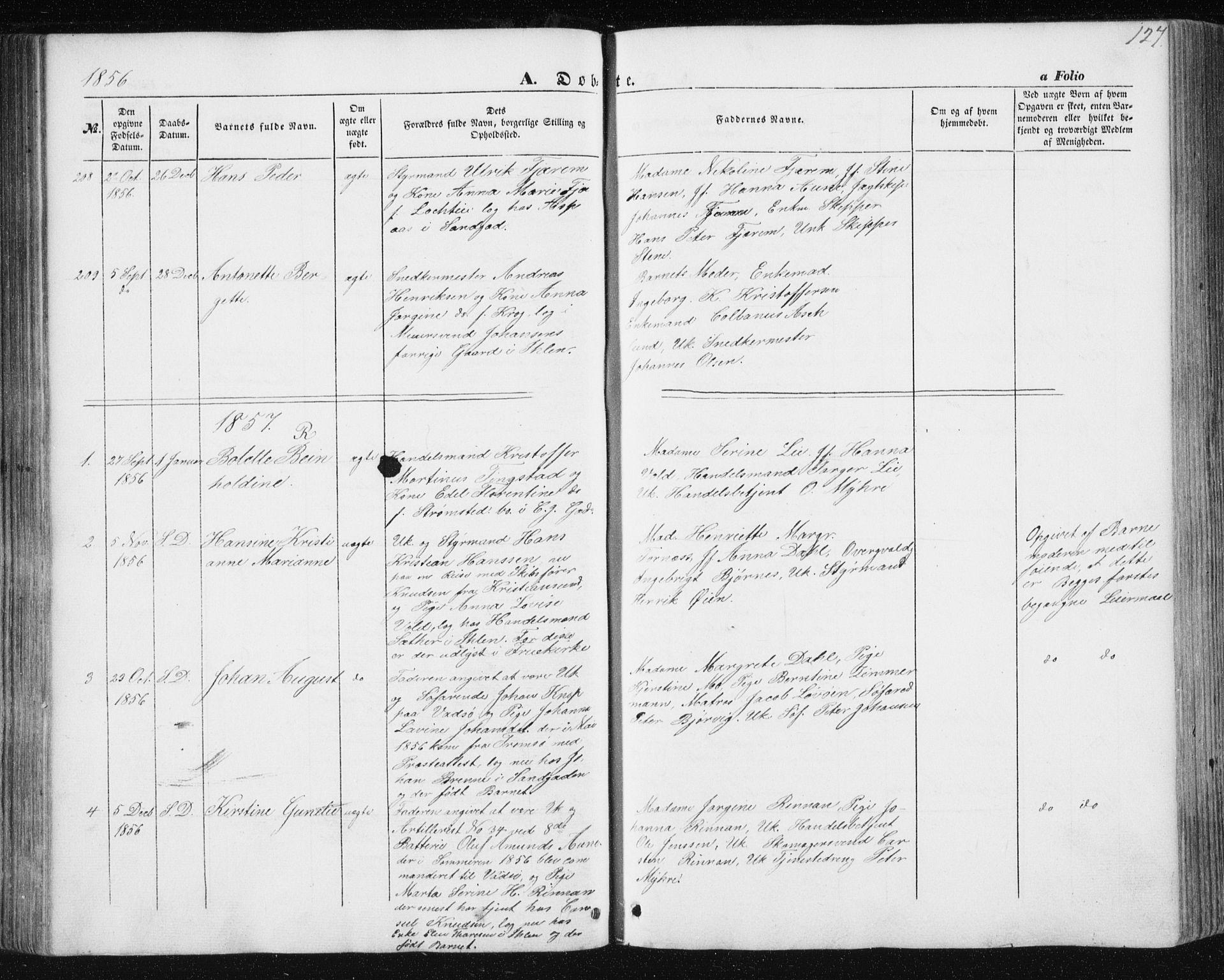 SAT, Ministerialprotokoller, klokkerbøker og fødselsregistre - Sør-Trøndelag, 602/L0112: Ministerialbok nr. 602A10, 1848-1859, s. 127